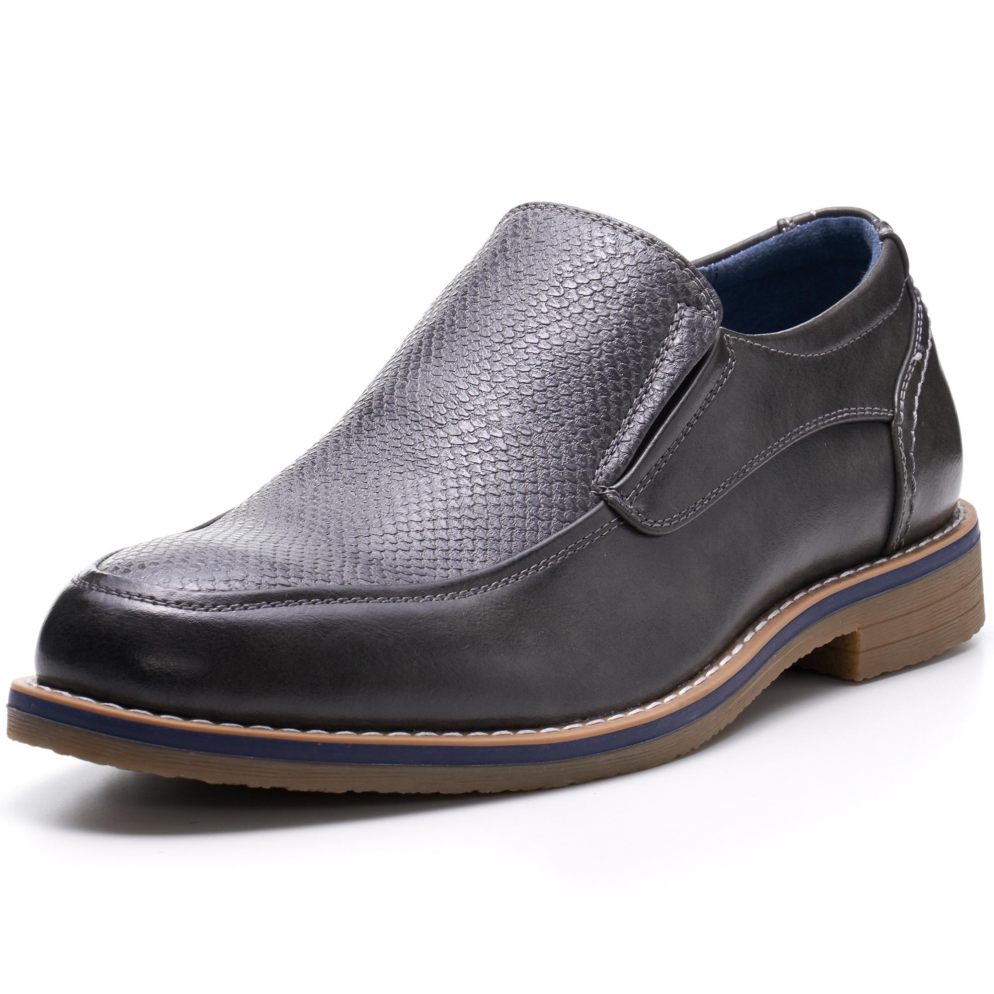 Alpine-Swiss-Carter-Men-s-Slip-On-Loafers-Snakeskin-Dress-Shoes-Leather-Lined