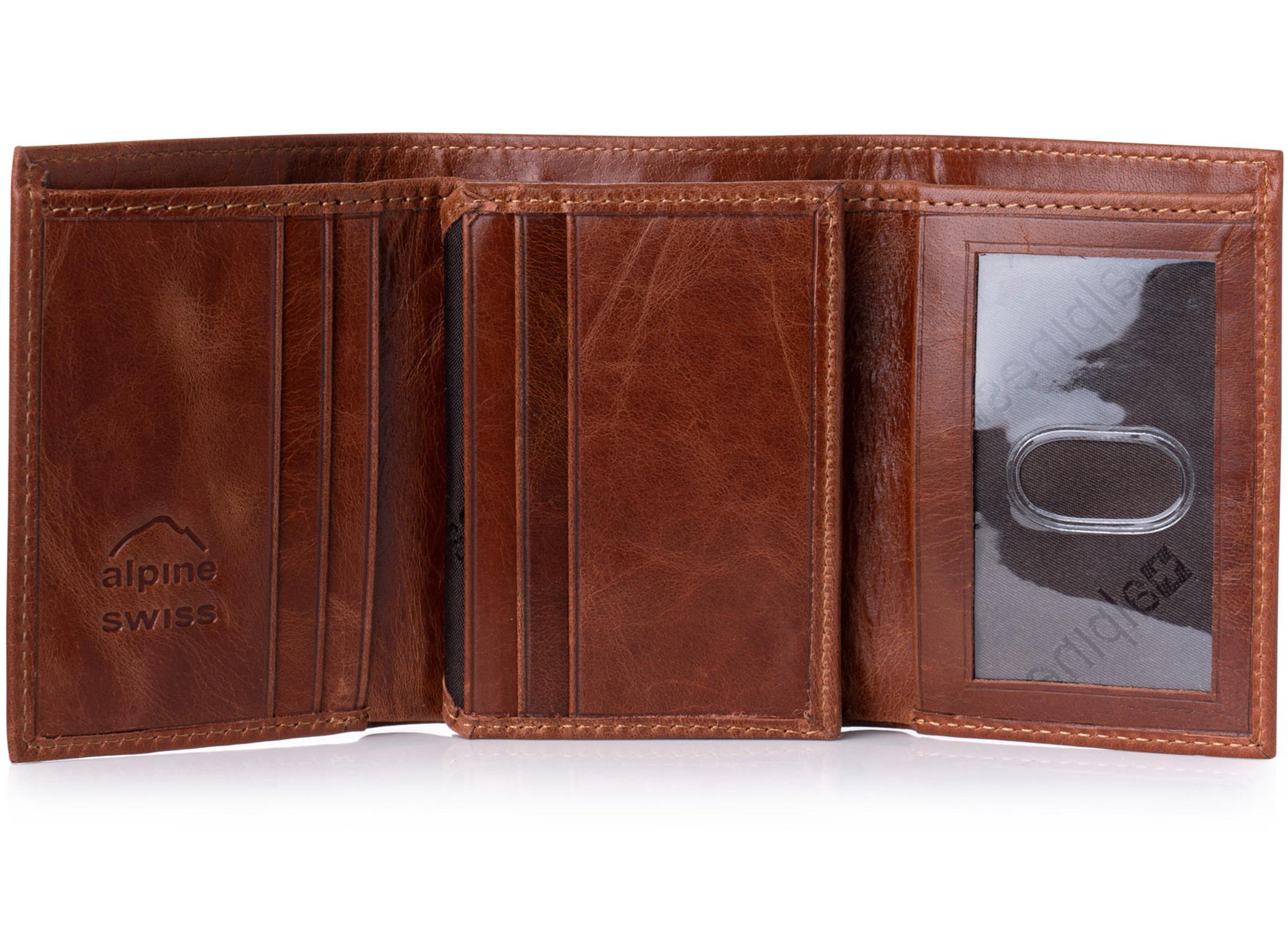 Mens Tri Fold Wallet Swiss Ltd