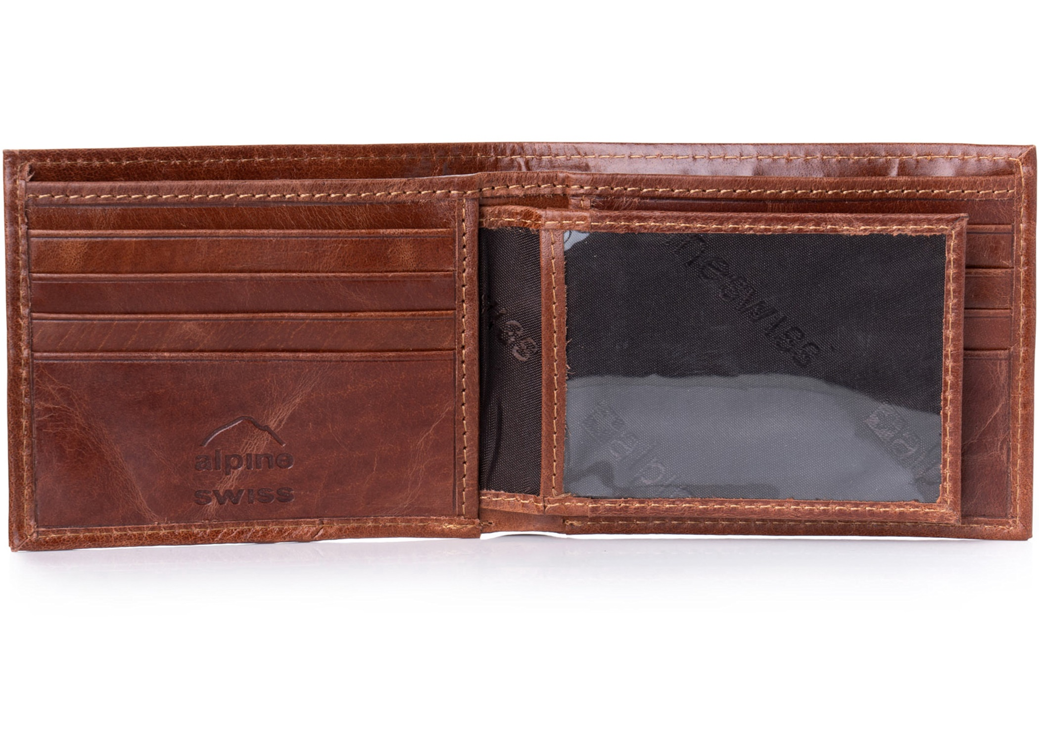 Alpine-Swiss-Mens-Leather-Wallet-Multi-Card-Flip-ID-High-Capacity-Compact-Bifold thumbnail 38