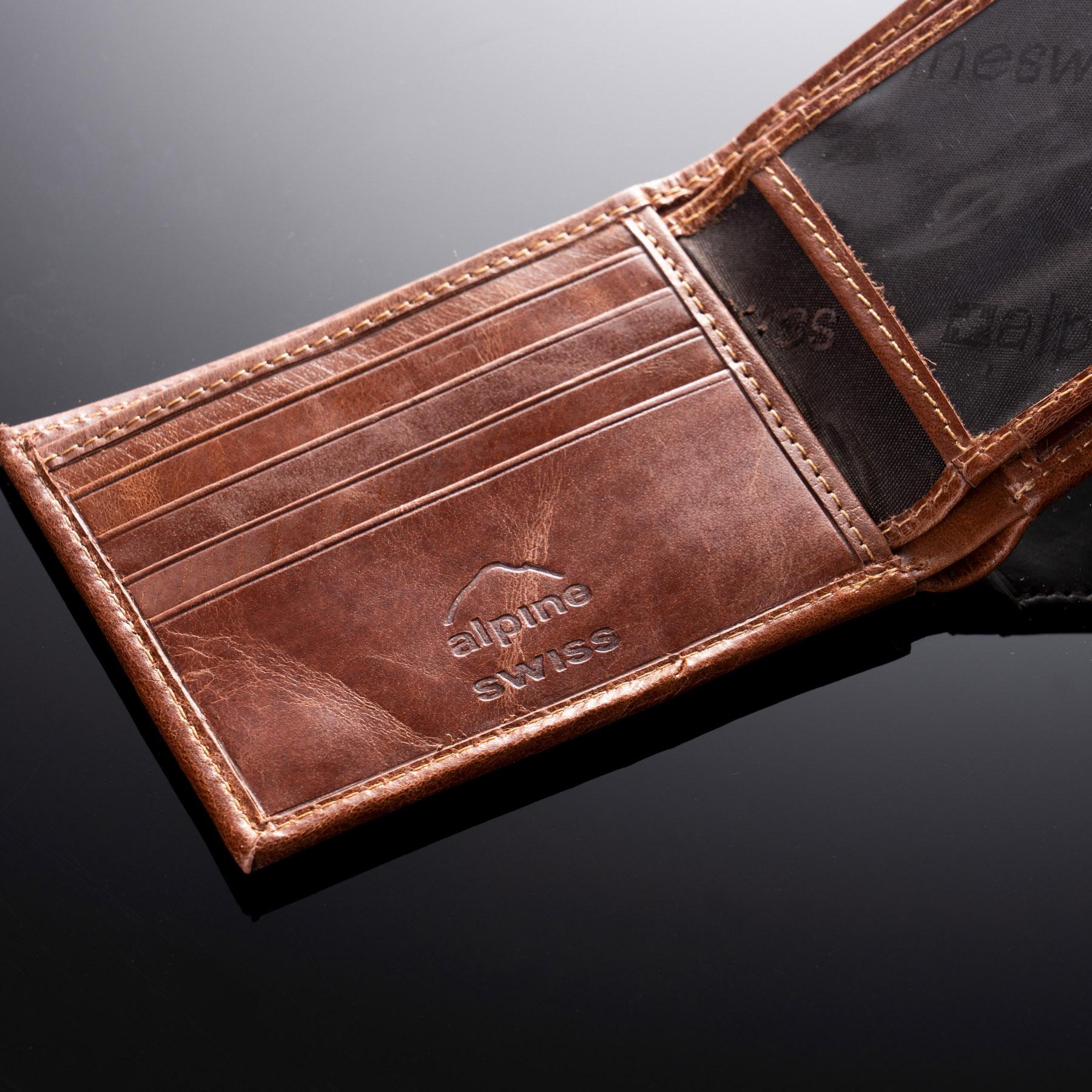 Alpine-Swiss-Mens-RFID-Blocking-Leather-Wallet-Multi-Card-High-Capacity-Bifold thumbnail 25