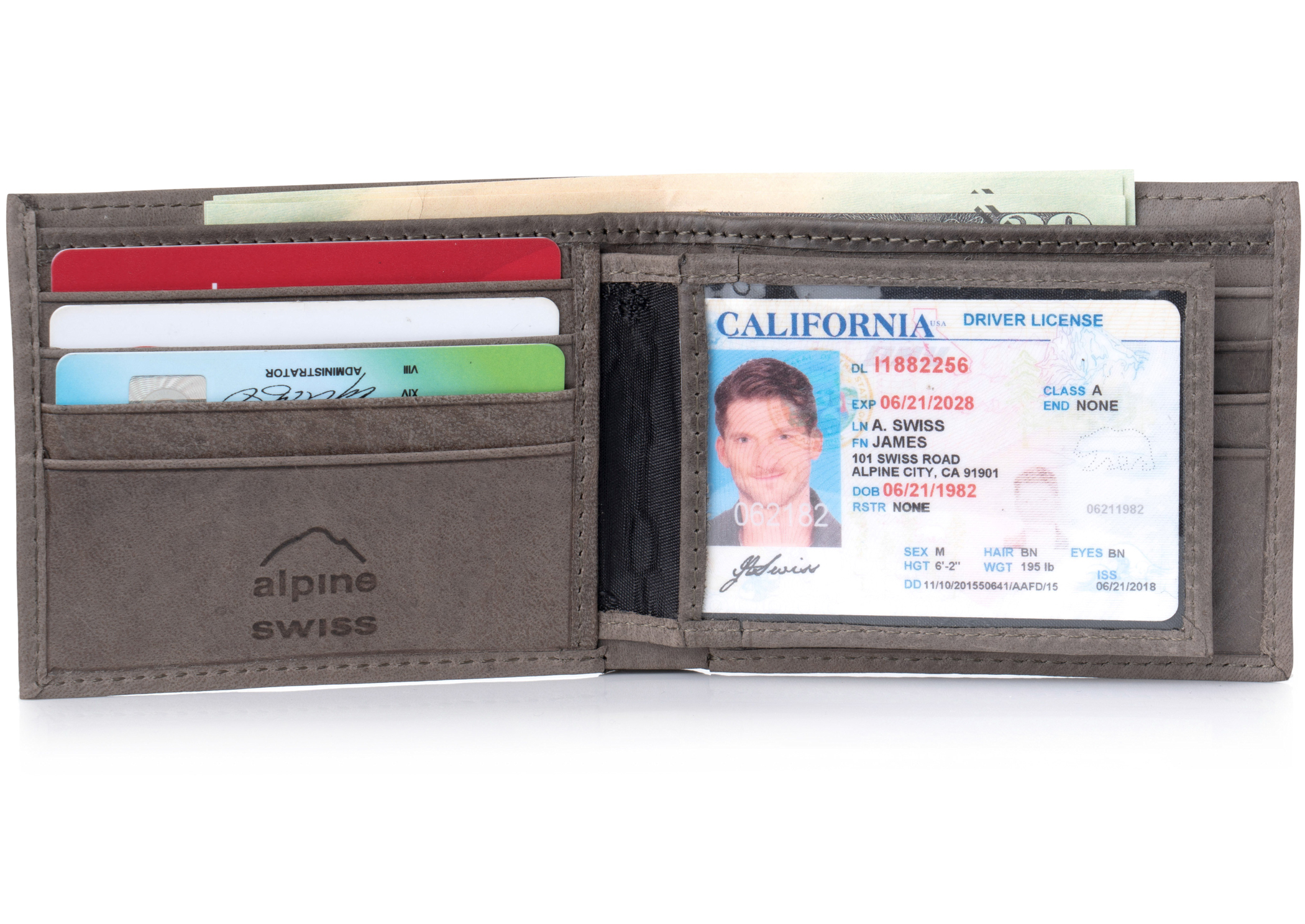Alpine-Swiss-Mens-Leather-Wallet-Multi-Card-Flip-ID-High-Capacity-Compact-Bifold thumbnail 43