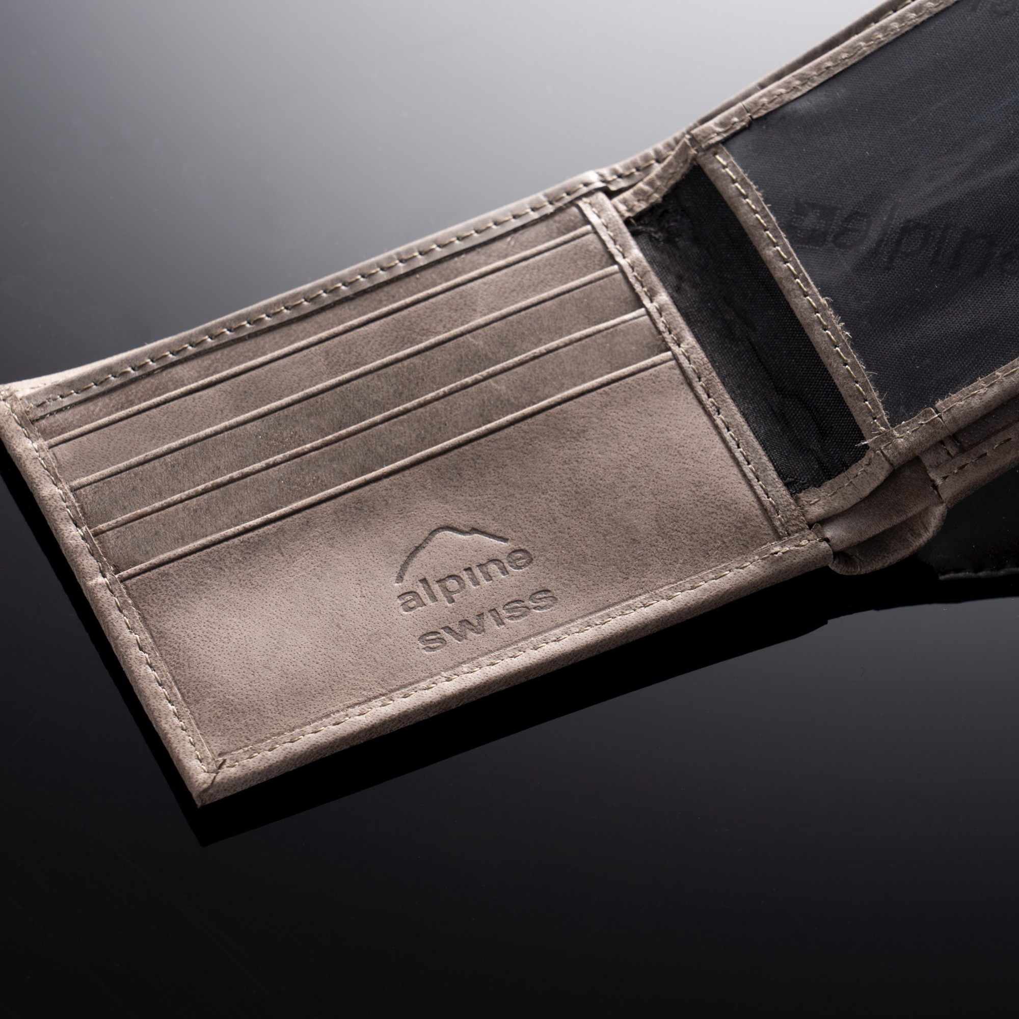 Alpine-Swiss-Mens-Leather-Wallet-Multi-Card-Flip-ID-High-Capacity-Compact-Bifold thumbnail 45