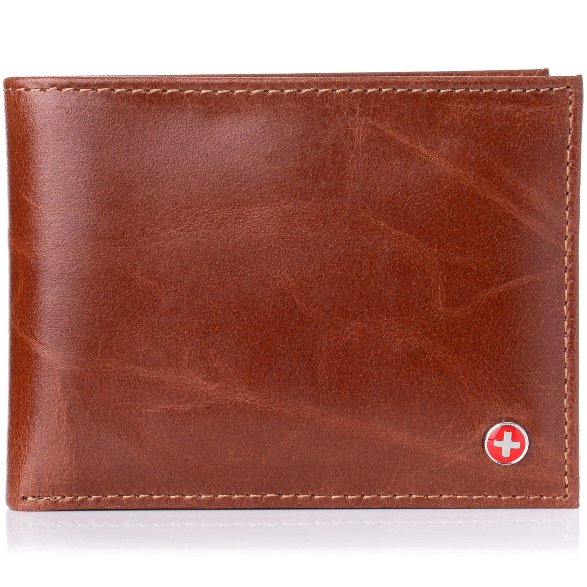 Alpine-Swiss-Mens-Wallet-Genuine-Leather-Removable-ID-Card-Case-Bifold-Passcase thumbnail 90