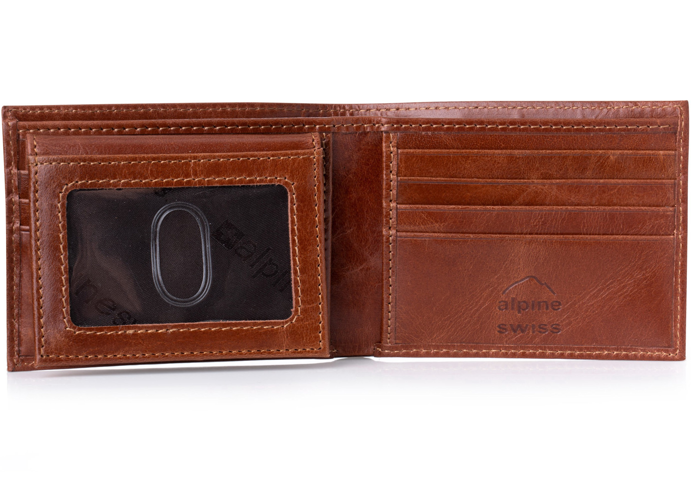 Alpine-Swiss-RFID-Blocking-Mens-Leather-Bifold-Wallet-Removable-ID-Card-Passcase thumbnail 28