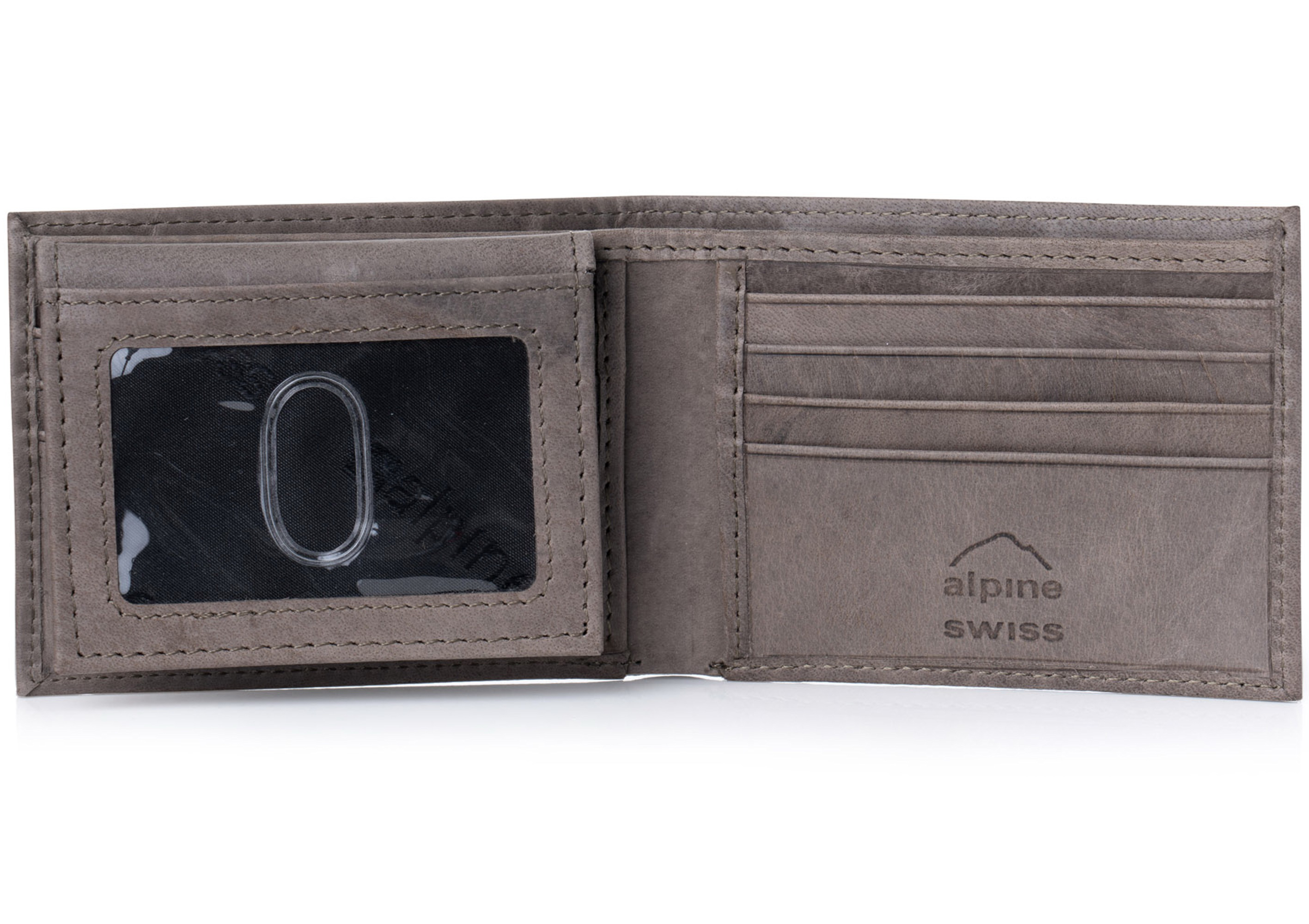 Alpine-Swiss-Mens-Wallet-Genuine-Leather-Removable-ID-Card-Case-Bifold-Passcase thumbnail 103