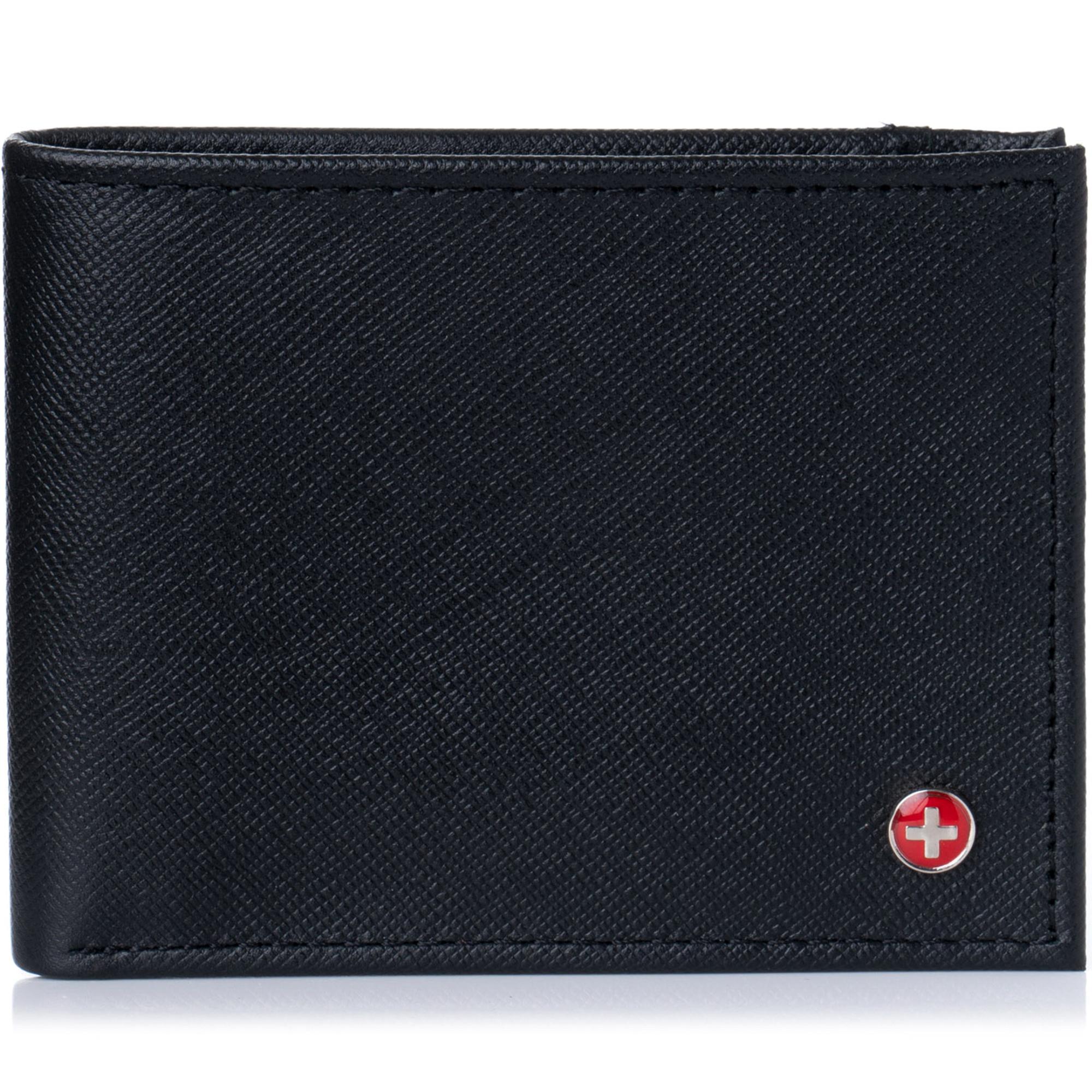 Alpine-Swiss-Mens-Thin-Bifold-Wallet-Top-Grain-Leather-EZ-Access-Outer-Card-Slot thumbnail 45