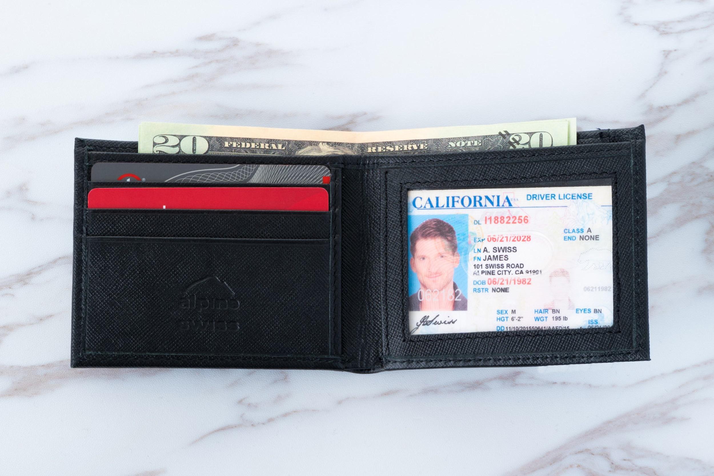 Alpine-Swiss-Mens-Thin-Bifold-Wallet-Top-Grain-Leather-EZ-Access-Outer-Card-Slot thumbnail 51