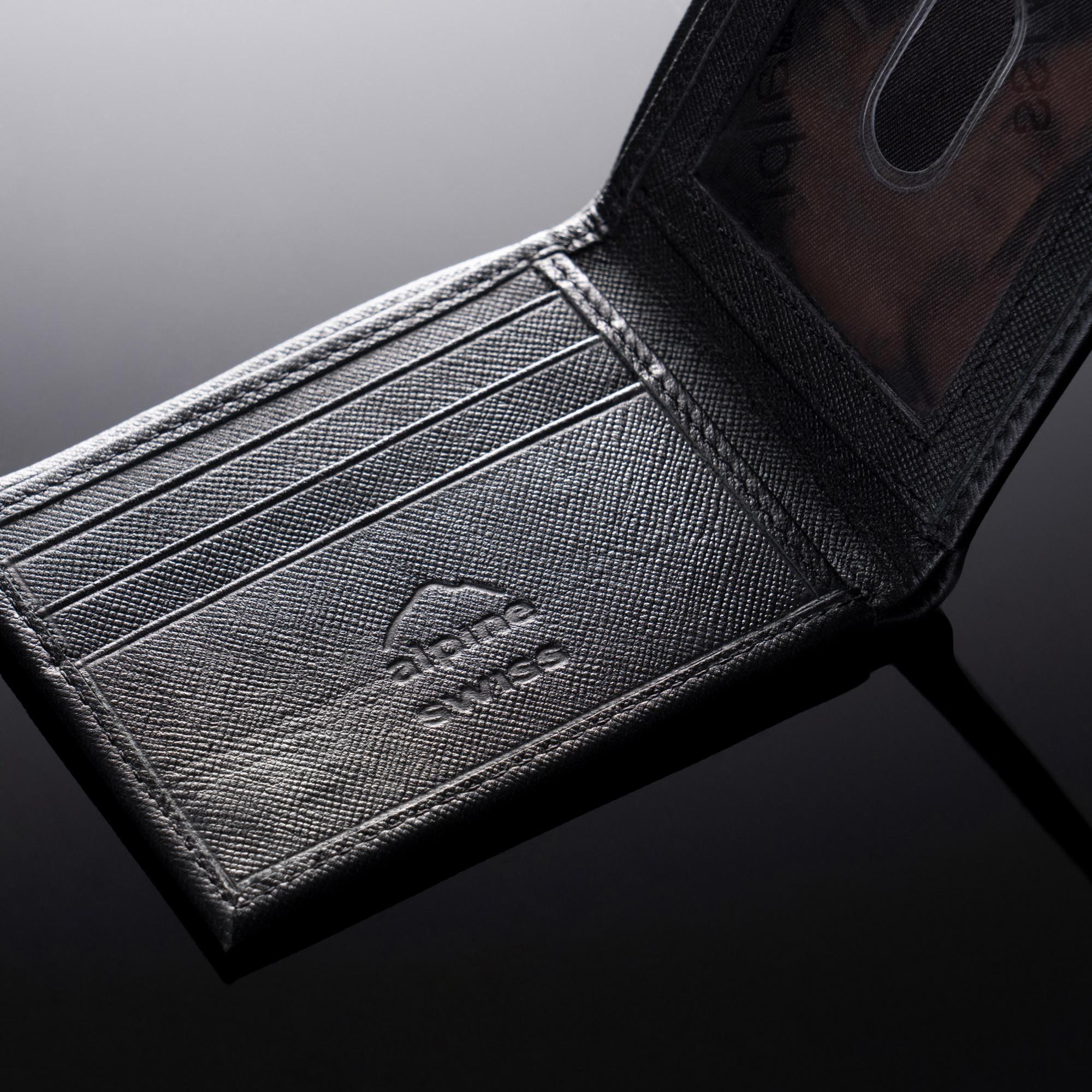 Alpine-Swiss-Mens-Thin-Bifold-Wallet-Top-Grain-Leather-EZ-Access-Outer-Card-Slot thumbnail 47