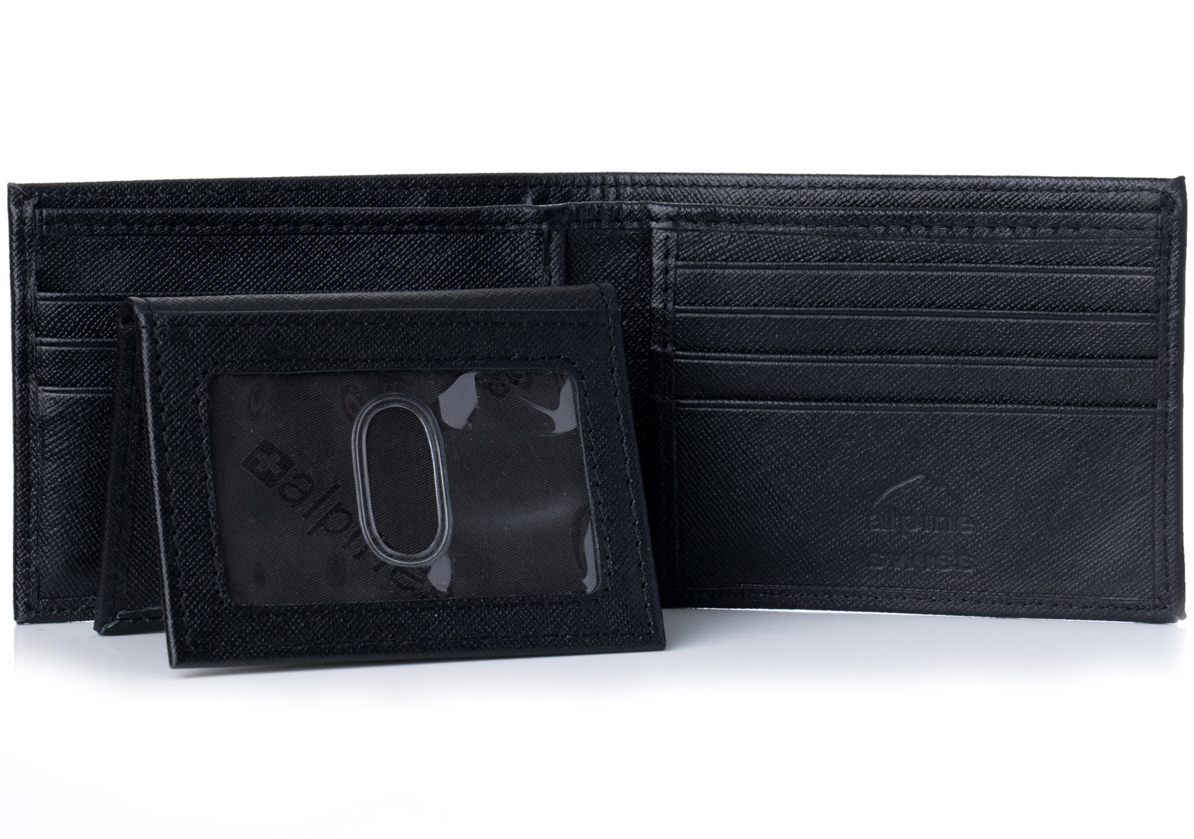 Alpine-Swiss-Mens-Wallet-Genuine-Leather-Removable-ID-Card-Case-Bifold-Passcase thumbnail 43