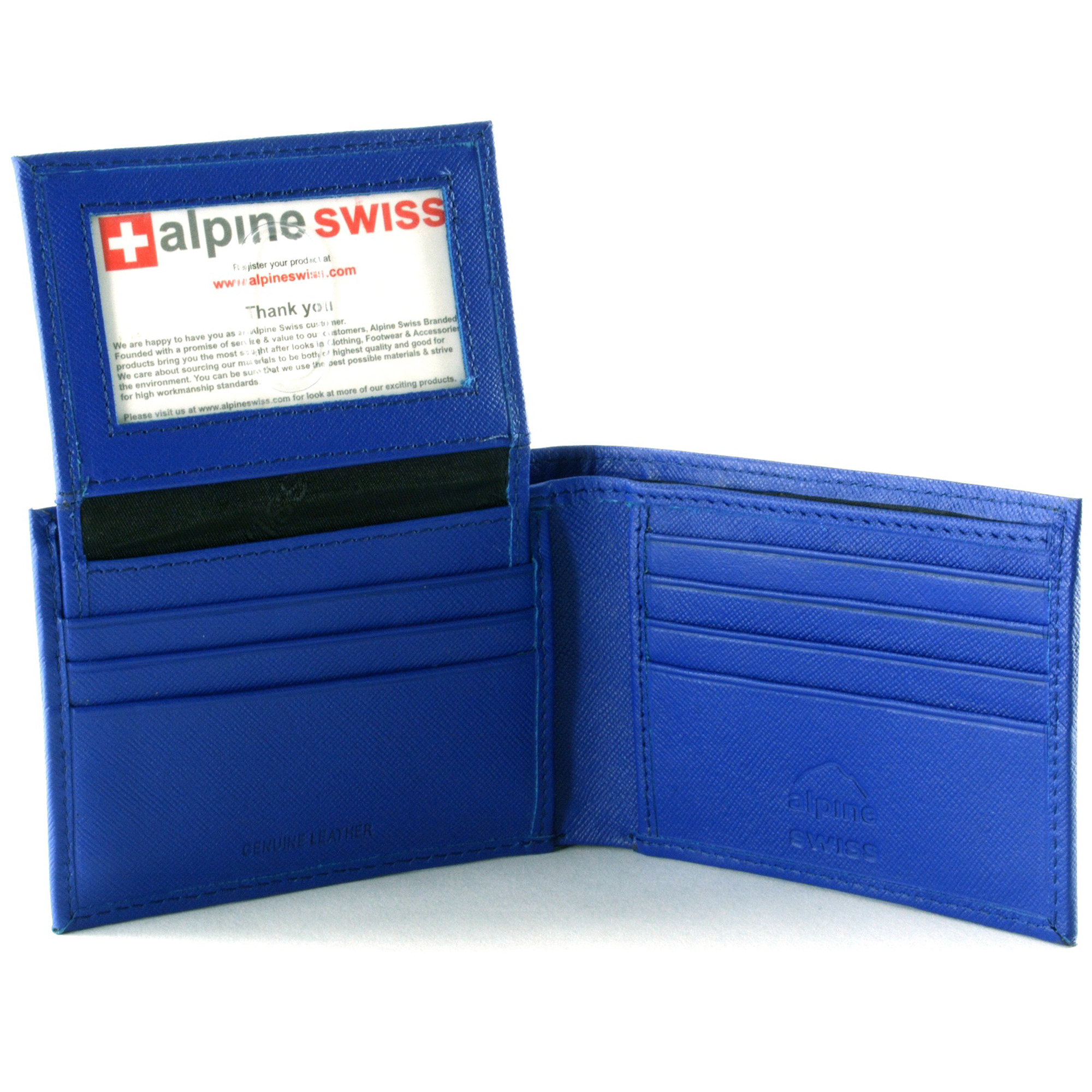 Alpine-Swiss-Mens-Wallet-Genuine-Leather-Removable-ID-Card-Case-Bifold-Passcase thumbnail 59