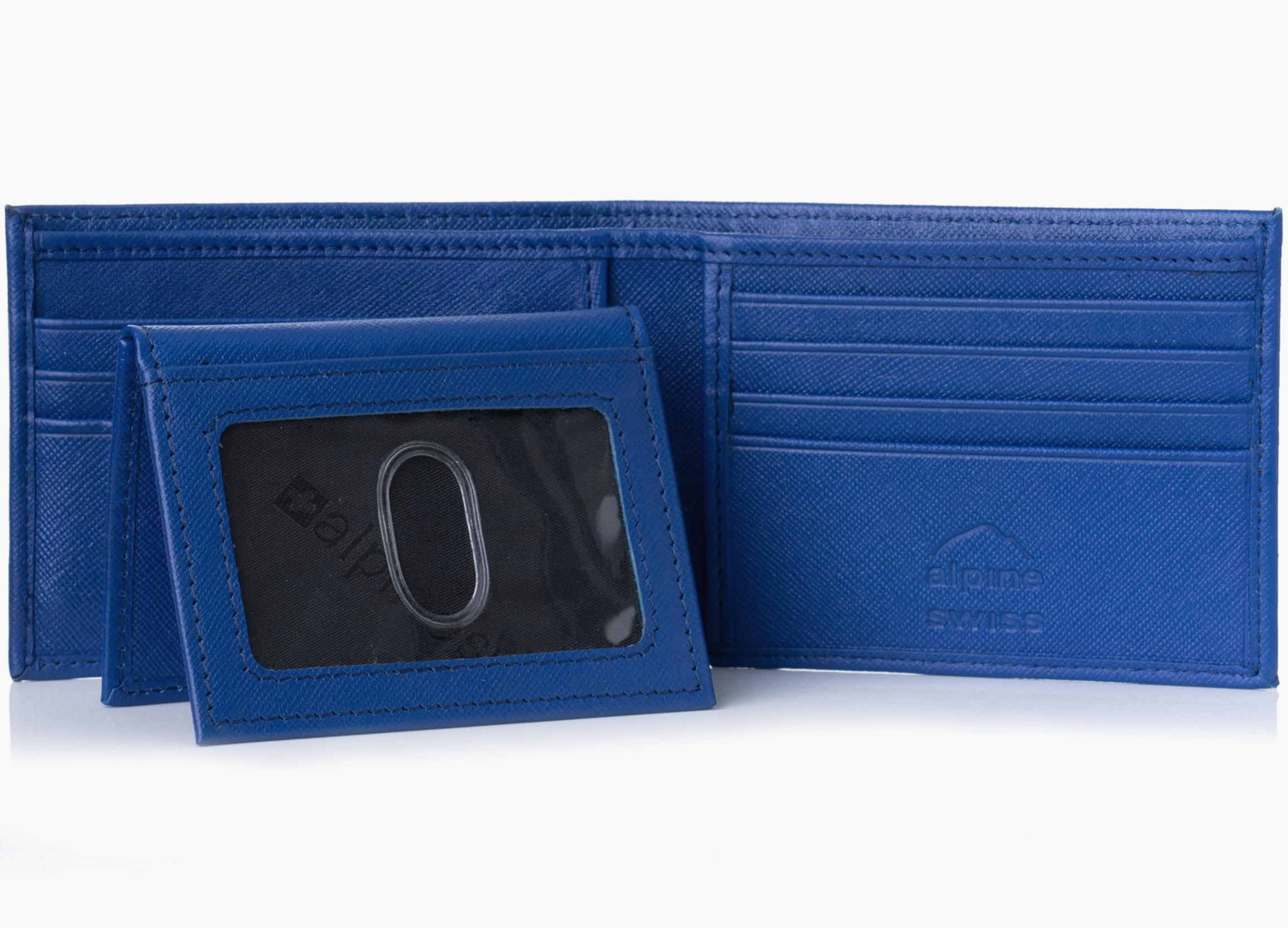 Alpine-Swiss-Mens-Wallet-Genuine-Leather-Removable-ID-Card-Case-Bifold-Passcase thumbnail 53