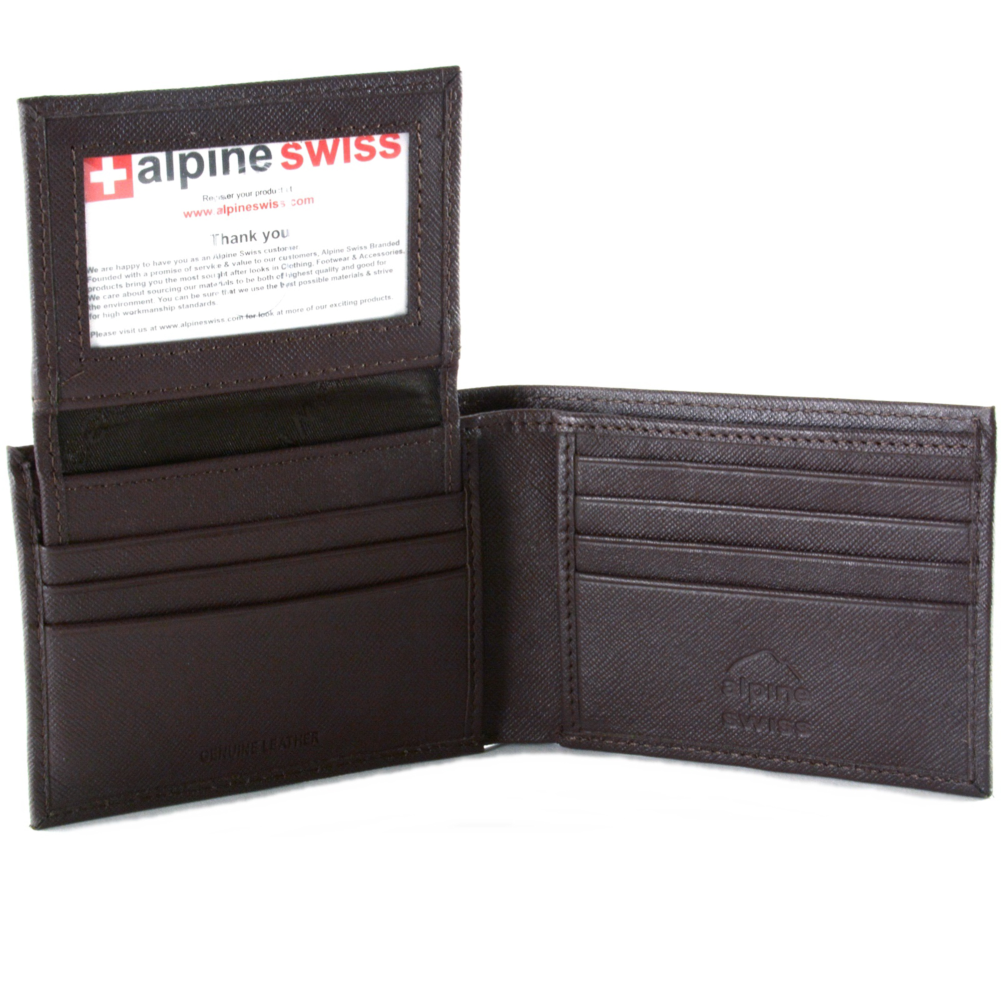 Alpine-Swiss-Mens-Wallet-Genuine-Leather-Removable-ID-Card-Case-Bifold-Passcase thumbnail 71