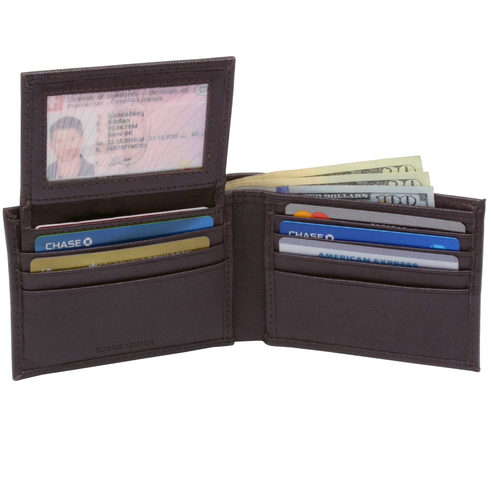Alpine-Swiss-Mens-Wallet-Genuine-Leather-Removable-ID-Card-Case-Bifold-Passcase thumbnail 64