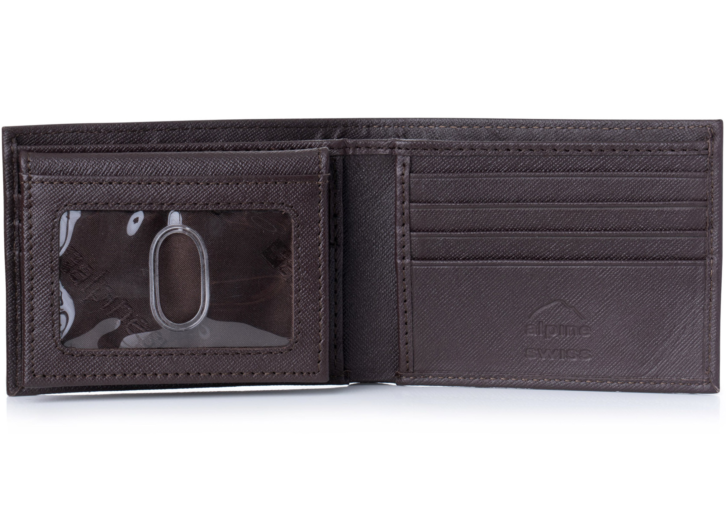 Alpine-Swiss-Mens-Wallet-Genuine-Leather-Removable-ID-Card-Case-Bifold-Passcase thumbnail 70