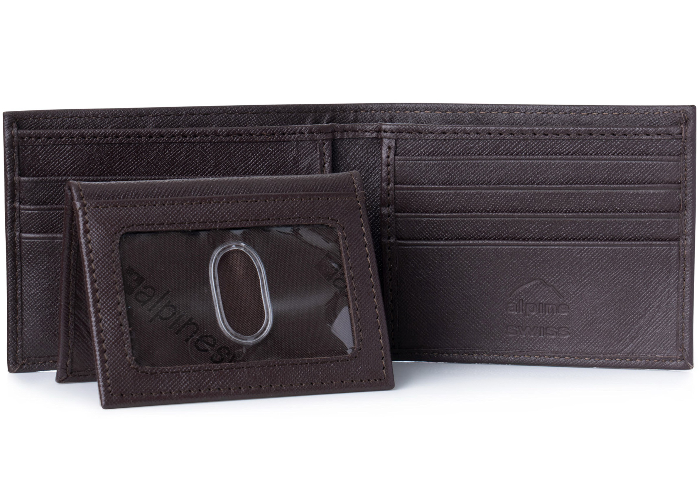 Alpine-Swiss-Mens-Wallet-Genuine-Leather-Removable-ID-Card-Case-Bifold-Passcase thumbnail 65