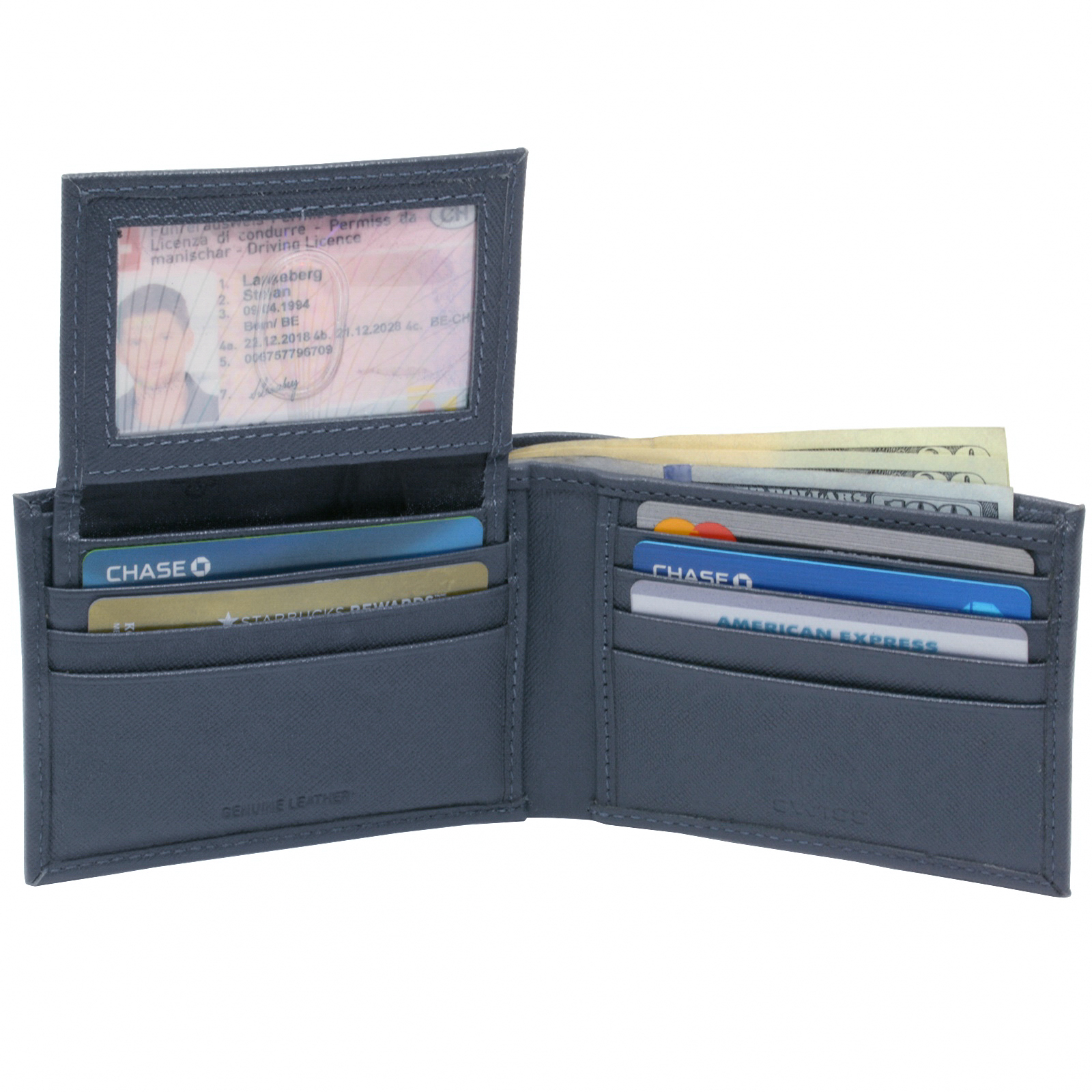 Alpine-Swiss-Mens-Wallet-Genuine-Leather-Removable-ID-Card-Case-Bifold-Passcase thumbnail 76