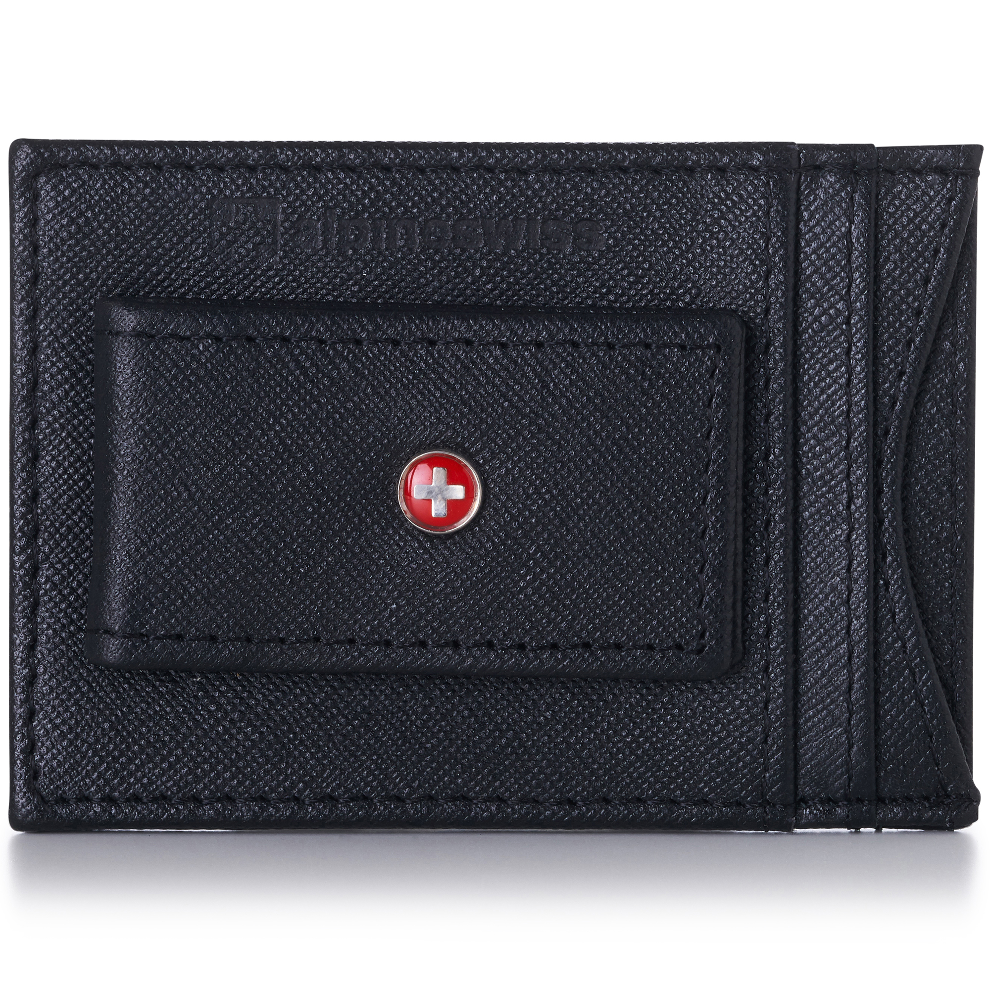 AlpineSwiss-Mens-Leather-Money-Clip-Magnet-Front-Pocket-Wallet-Slim-ID-Card-Case thumbnail 43