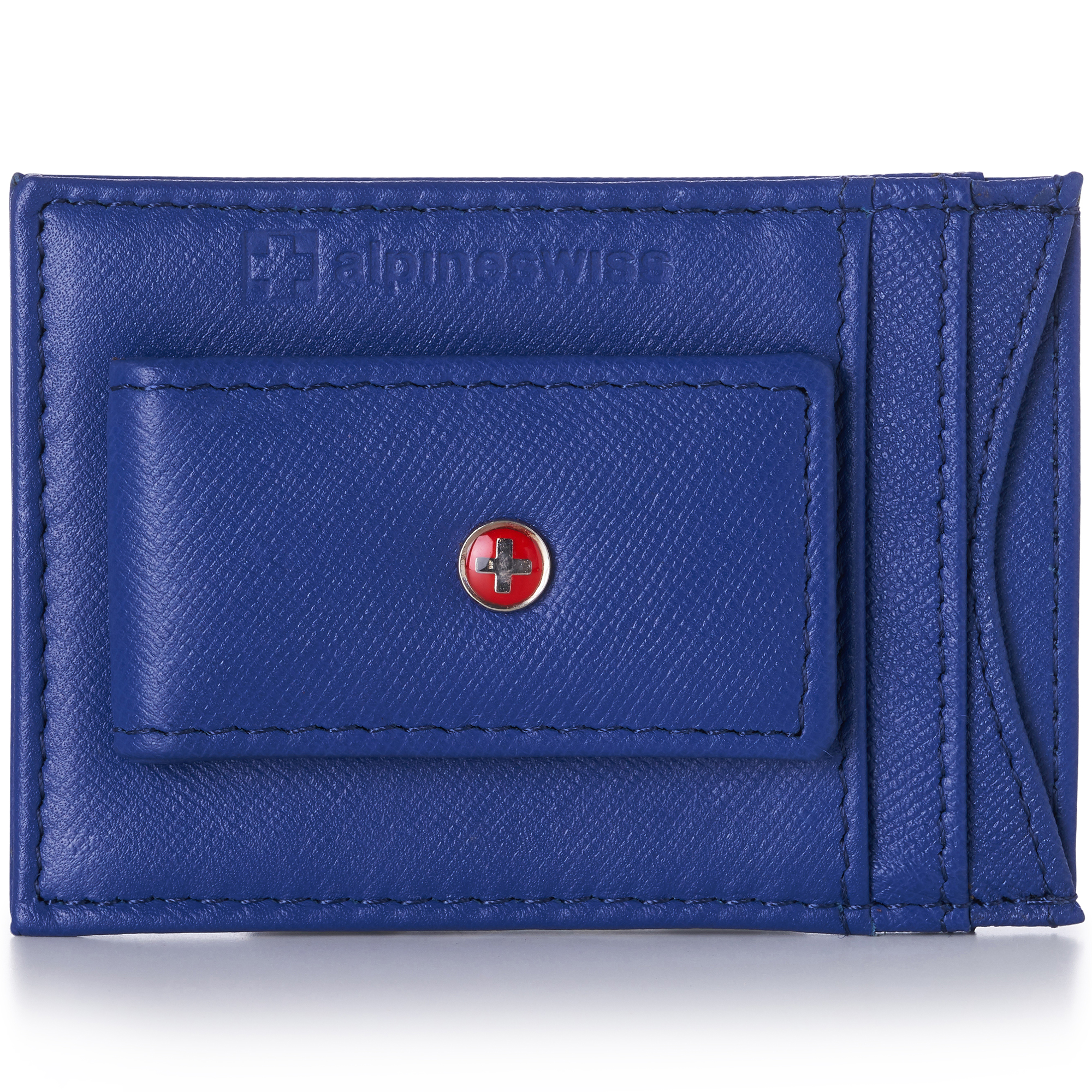 AlpineSwiss-Mens-Leather-Money-Clip-Magnet-Front-Pocket-Wallet-Slim-ID-Card-Case thumbnail 54
