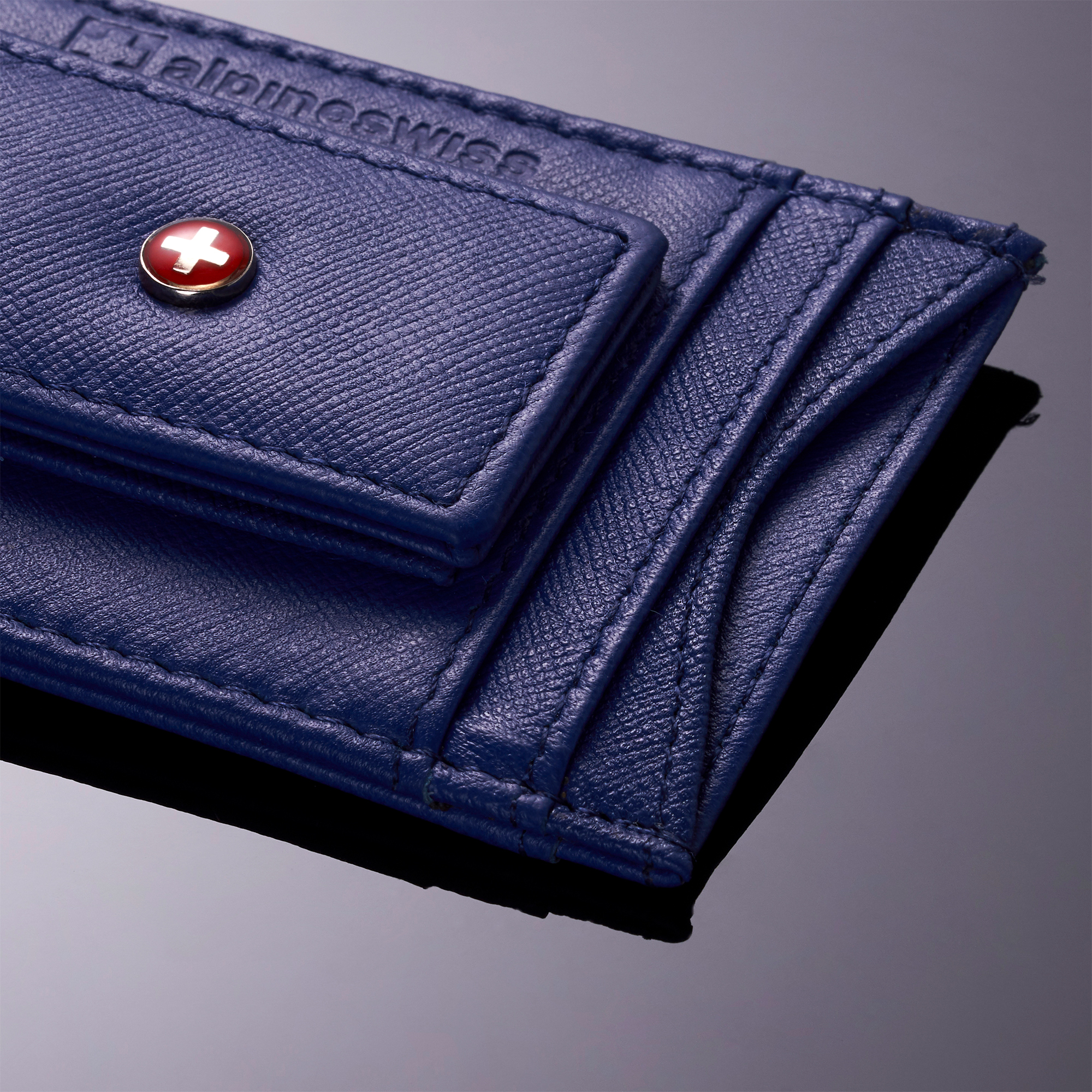 AlpineSwiss-Mens-Leather-Money-Clip-Magnet-Front-Pocket-Wallet-Slim-ID-Card-Case thumbnail 52