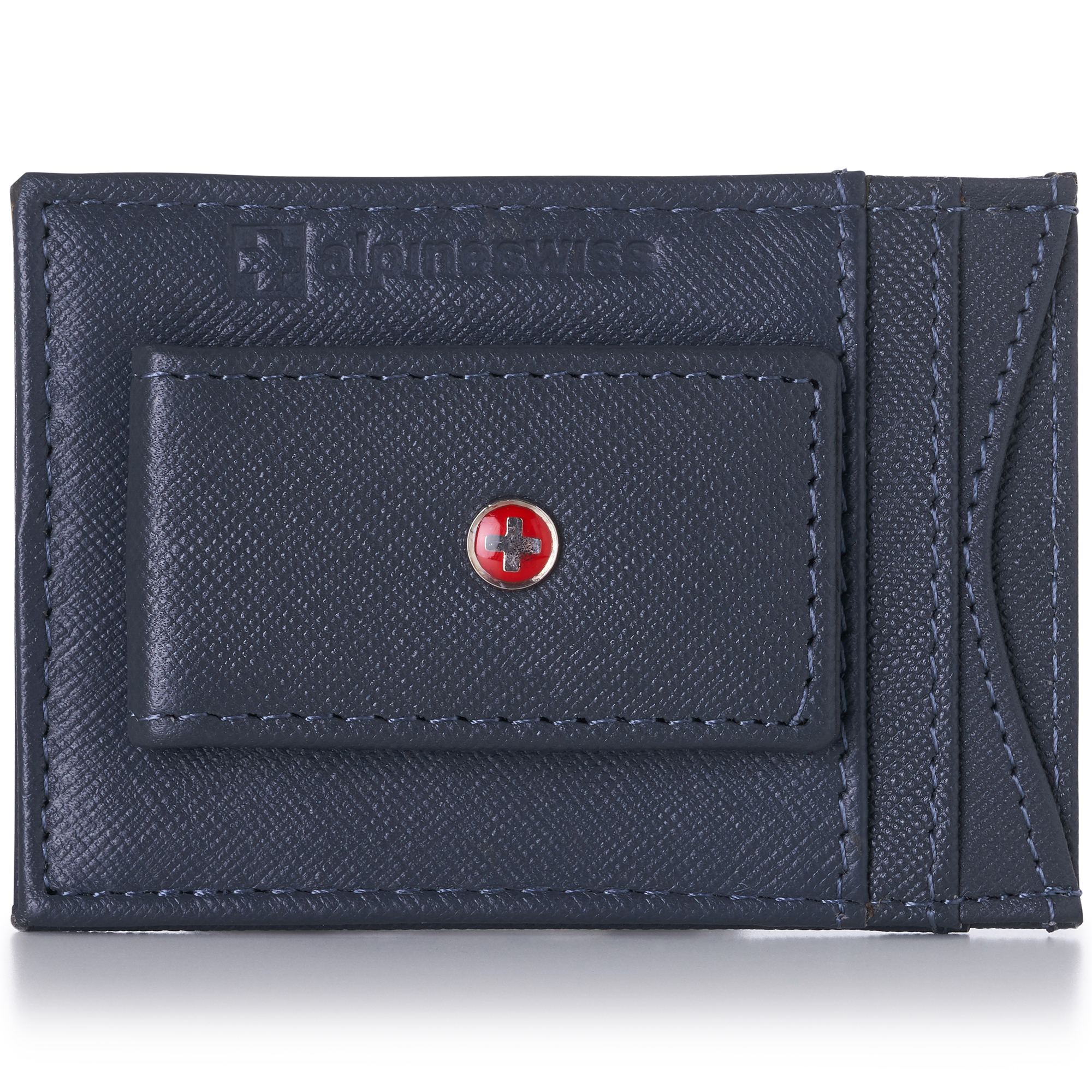 AlpineSwiss-Mens-Leather-Money-Clip-Magnet-Front-Pocket-Wallet-Slim-ID-Card-Case thumbnail 63