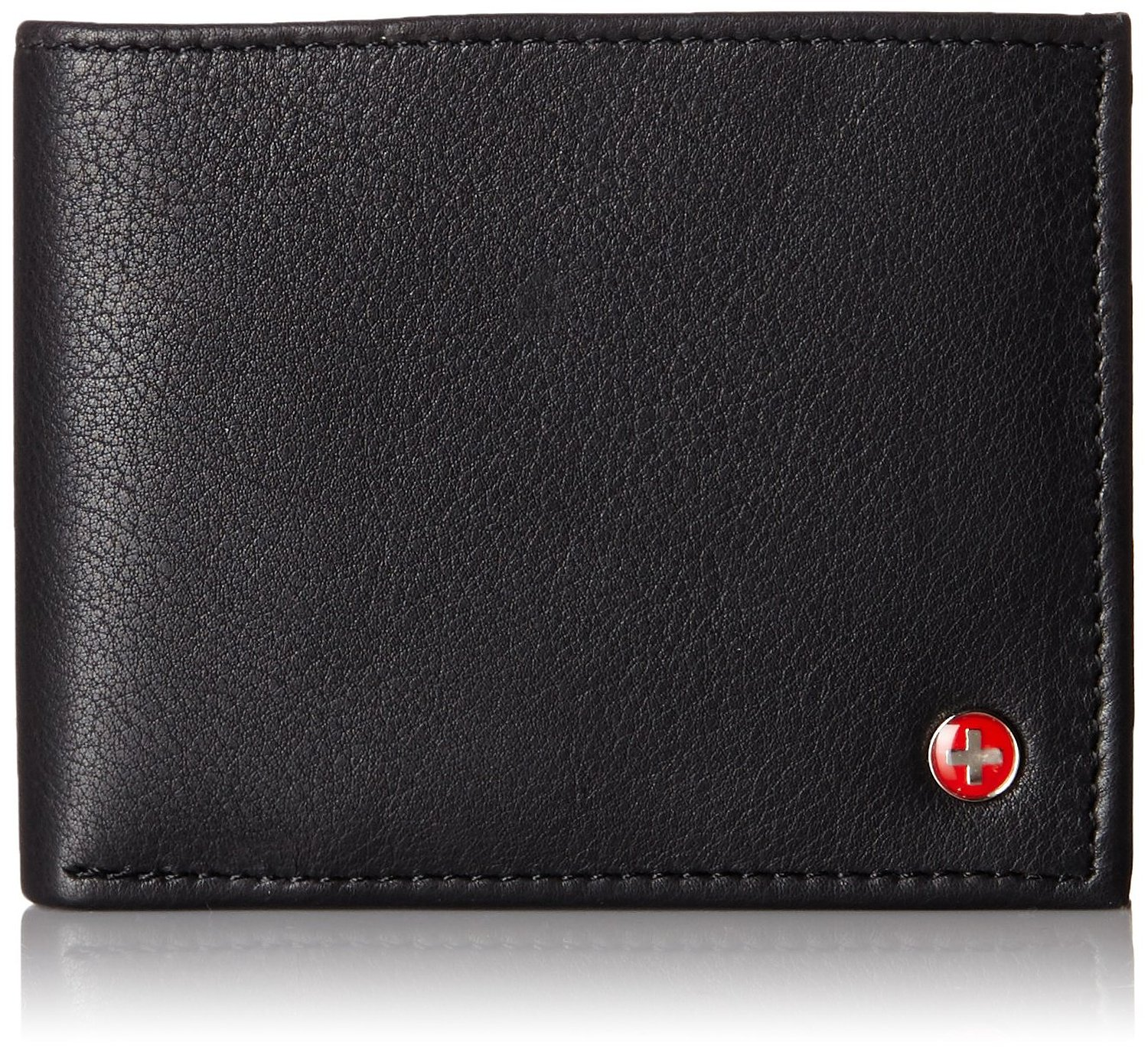 Alpine-Swiss-Mens-Wallet-Genuine-Leather-Divided-Bill-Section-Flipout-ID-Bifold thumbnail 13