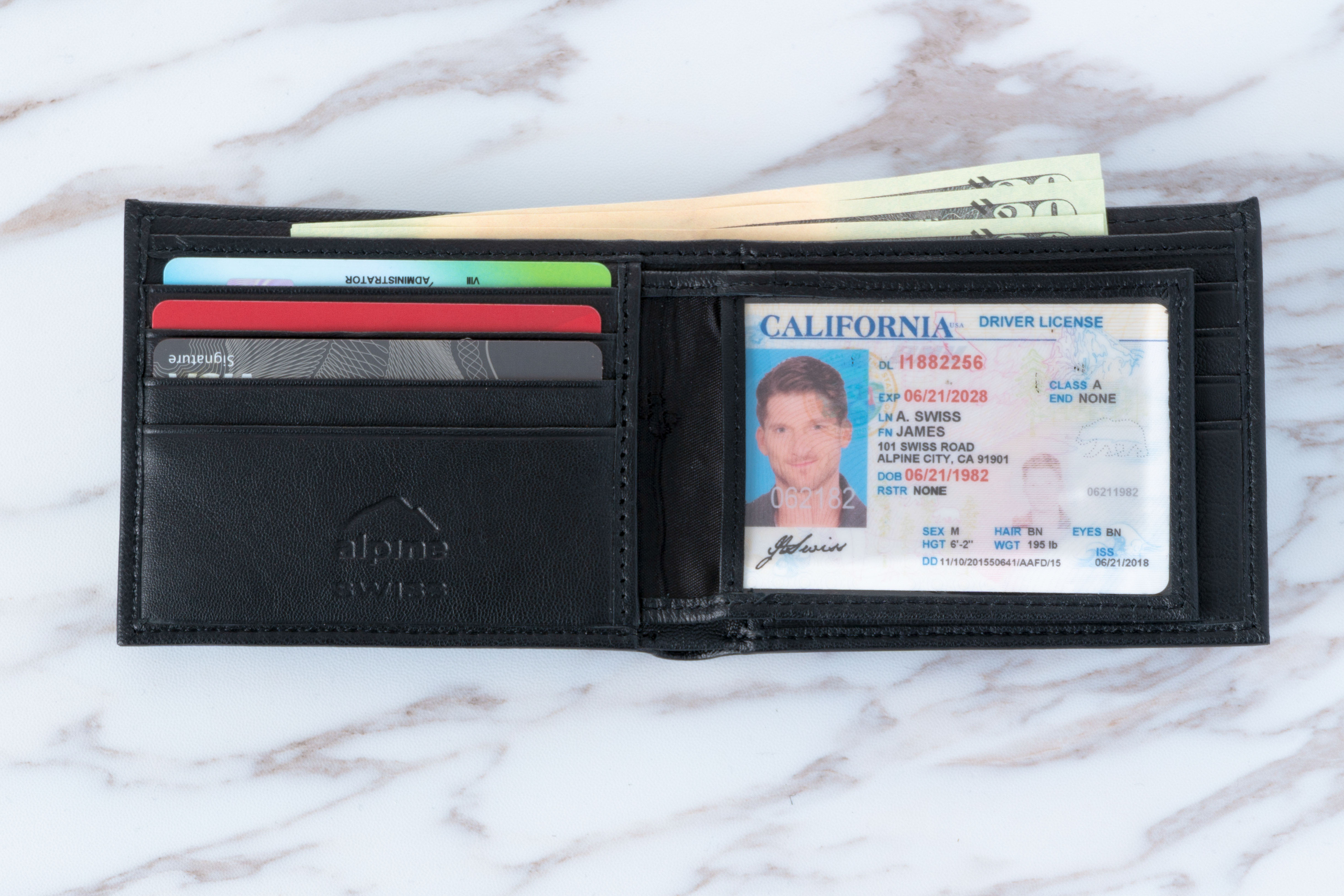 Alpine-Swiss-Mens-Leather-Wallet-Multi-Card-Flip-ID-High-Capacity-Compact-Bifold thumbnail 19
