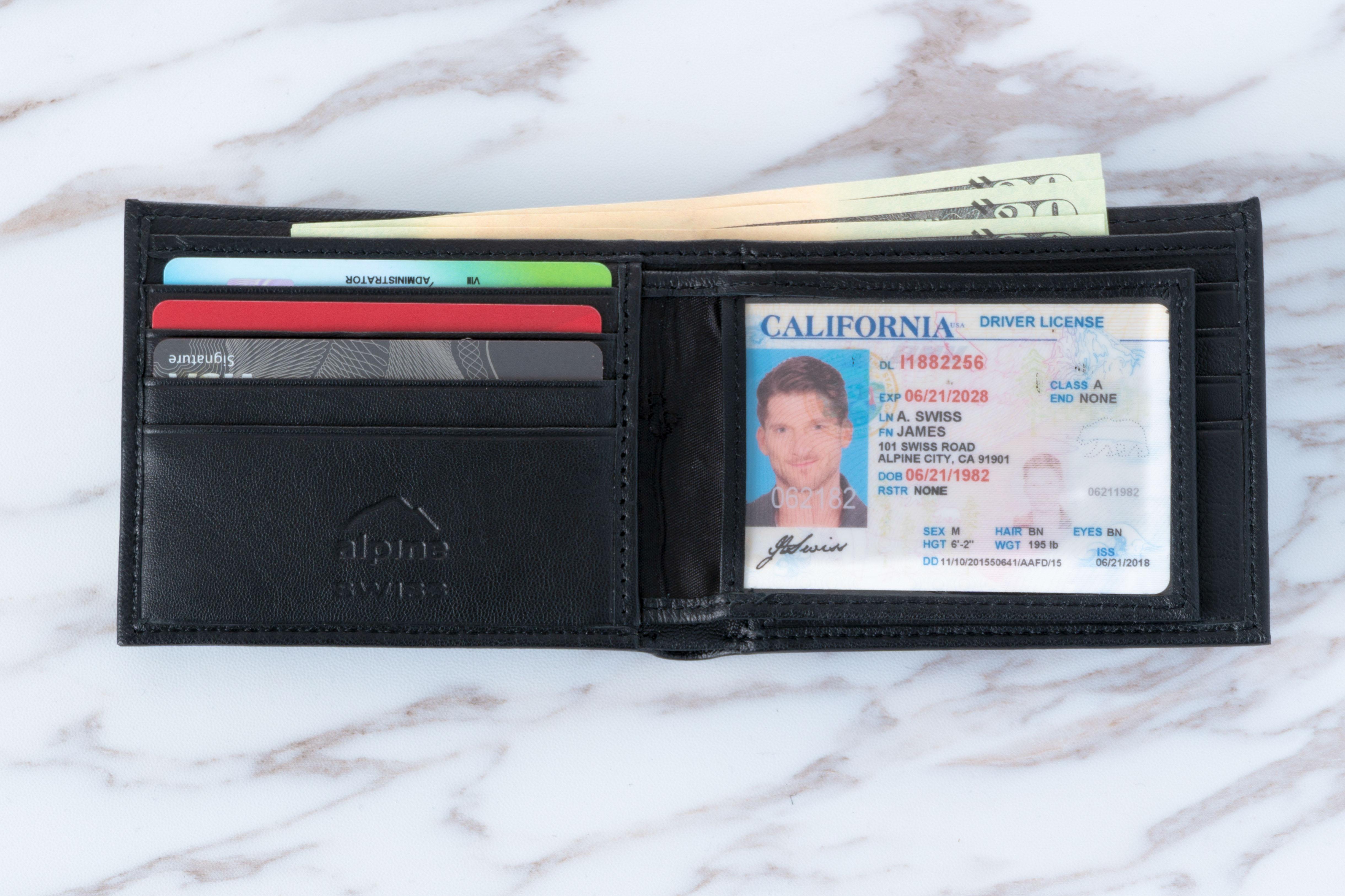 Alpine-Swiss-Mens-RFID-Blocking-Leather-Wallet-Multi-Card-High-Capacity-Bifold thumbnail 20