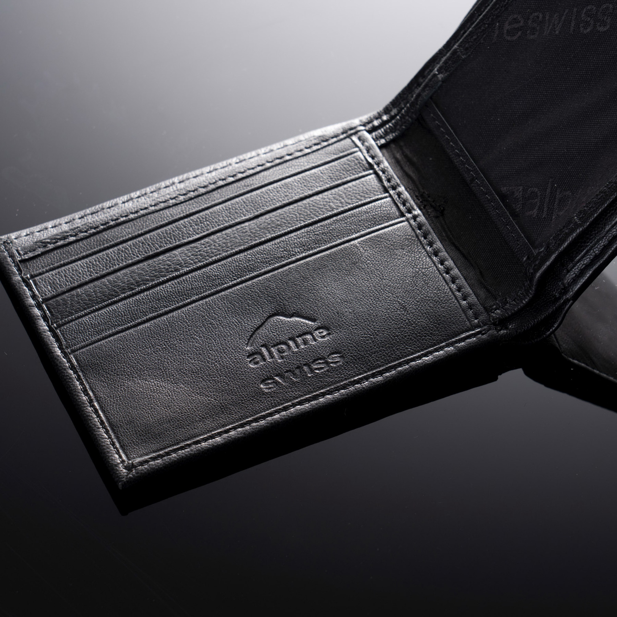 Alpine-Swiss-Mens-Leather-Wallet-Multi-Card-Flip-ID-High-Capacity-Compact-Bifold thumbnail 15