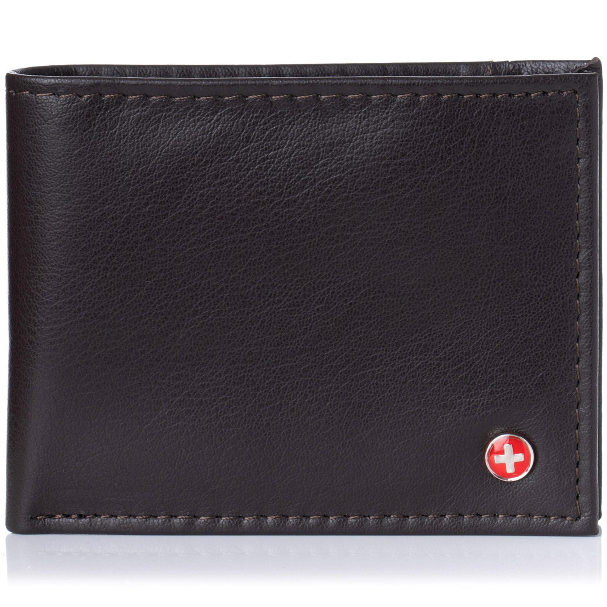 Alpine-Swiss-Mens-Thin-Bifold-Wallet-Top-Grain-Leather-EZ-Access-Outer-Card-Slot thumbnail 35