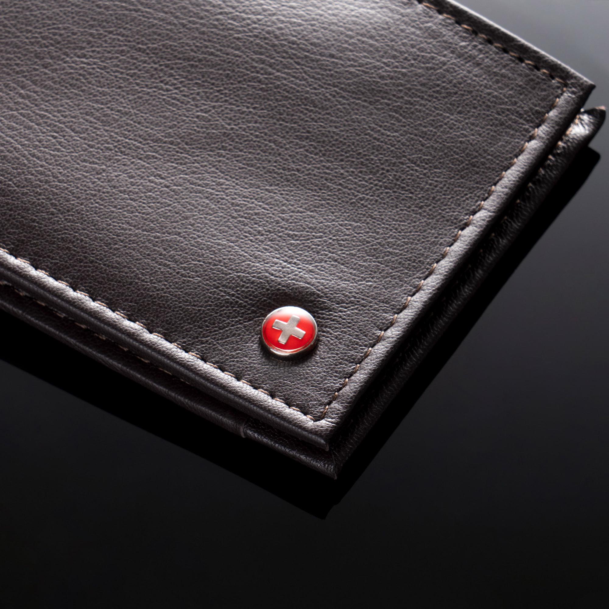 Alpine-Swiss-Mens-Thin-Bifold-Wallet-Top-Grain-Leather-EZ-Access-Outer-Card-Slot thumbnail 38