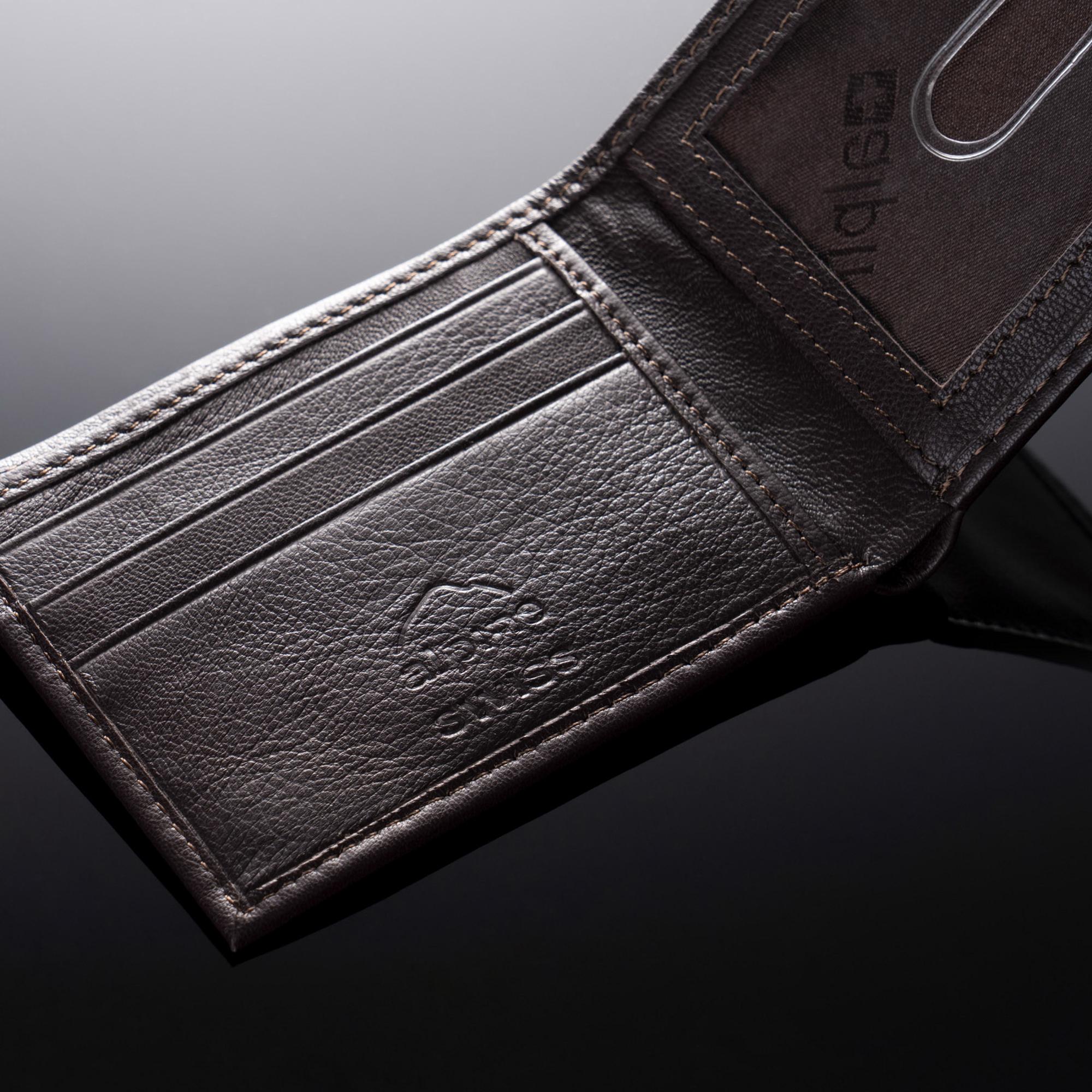 Alpine-Swiss-Mens-Thin-Bifold-Wallet-Top-Grain-Leather-EZ-Access-Outer-Card-Slot thumbnail 37
