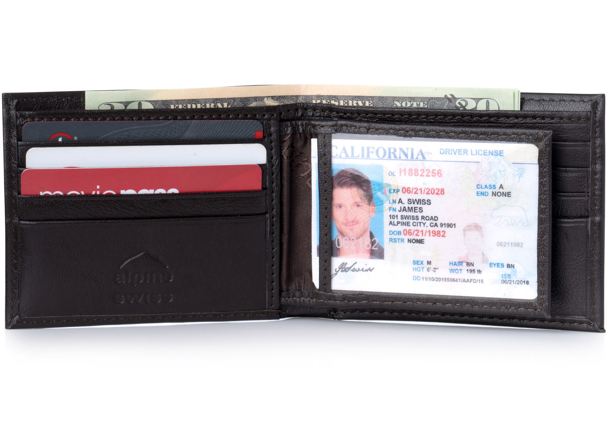 Alpine-Swiss-Mens-Leather-Wallet-Multi-Card-Flip-ID-High-Capacity-Compact-Bifold thumbnail 23