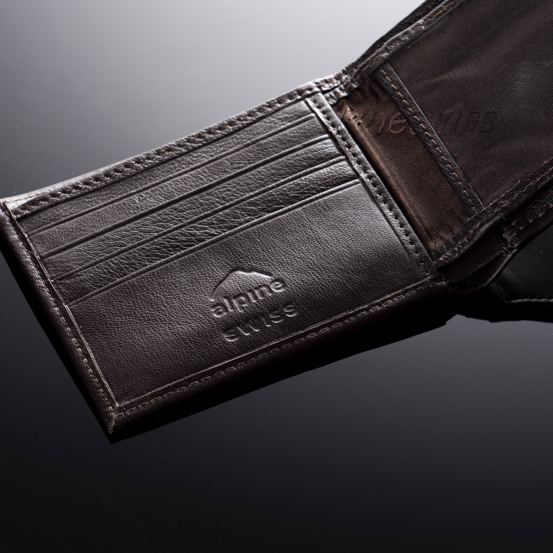 Alpine-Swiss-Mens-Leather-Wallet-Multi-Card-Flip-ID-High-Capacity-Compact-Bifold thumbnail 25