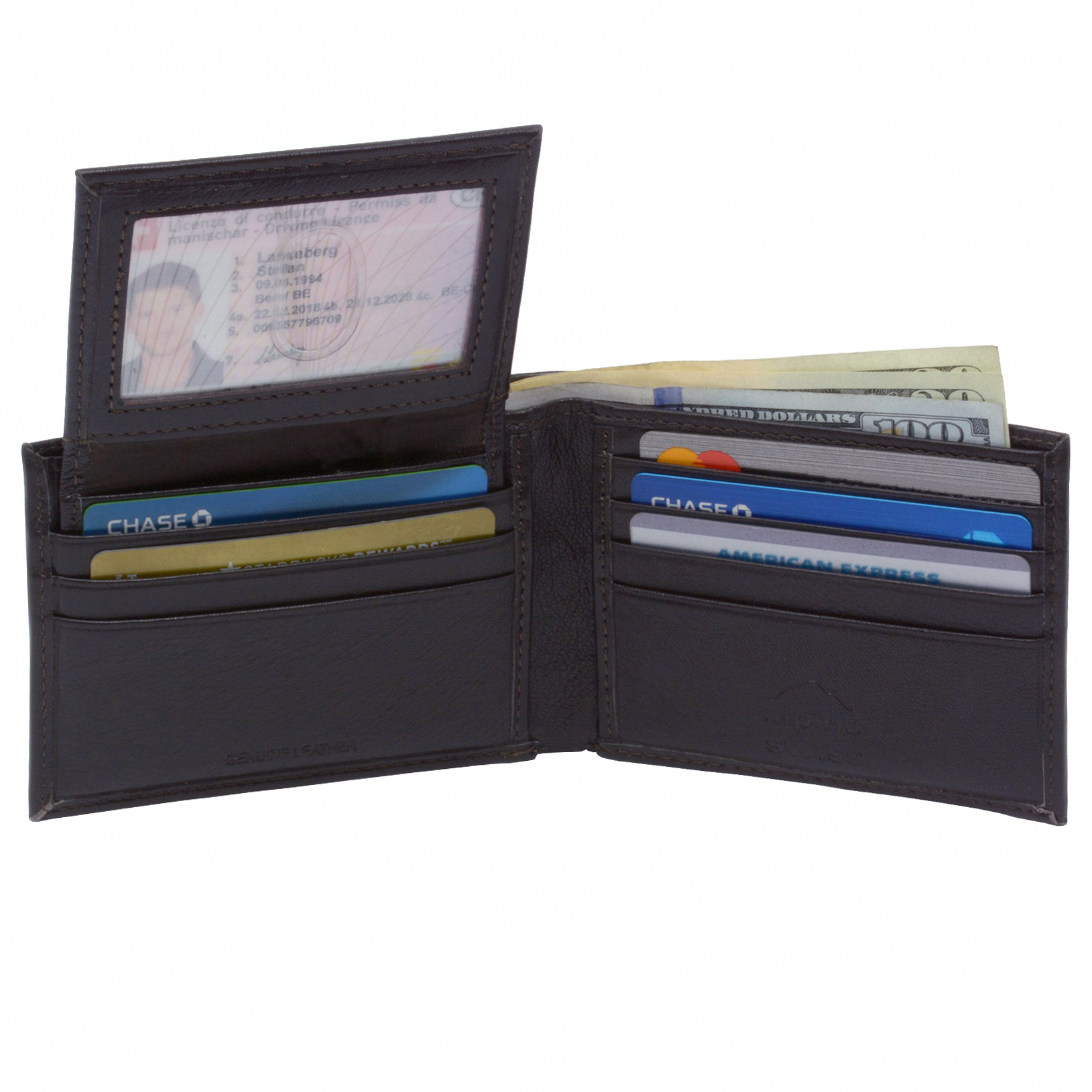 Alpine-Swiss-Mens-Wallet-Genuine-Leather-Removable-ID-Card-Case-Bifold-Passcase thumbnail 33