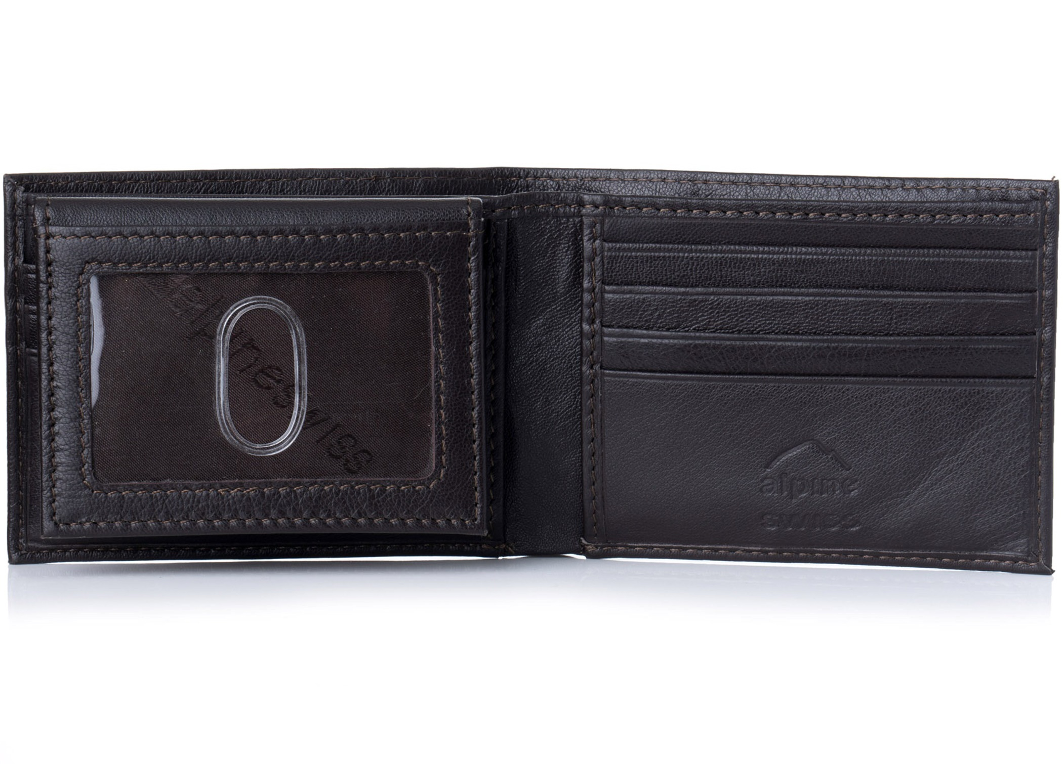 Alpine-Swiss-Mens-Wallet-Genuine-Leather-Removable-ID-Card-Case-Bifold-Passcase thumbnail 39