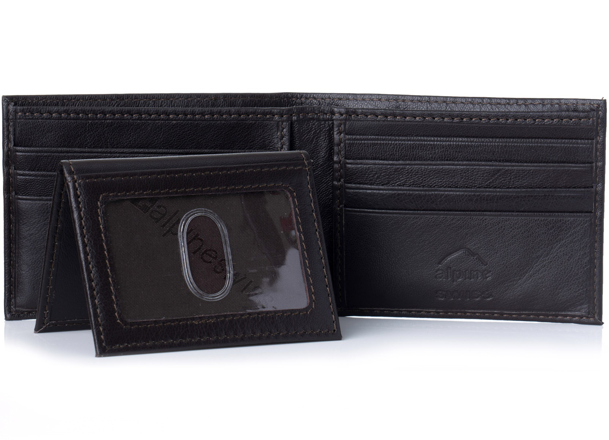 Alpine-Swiss-Mens-Wallet-Genuine-Leather-Removable-ID-Card-Case-Bifold-Passcase thumbnail 34