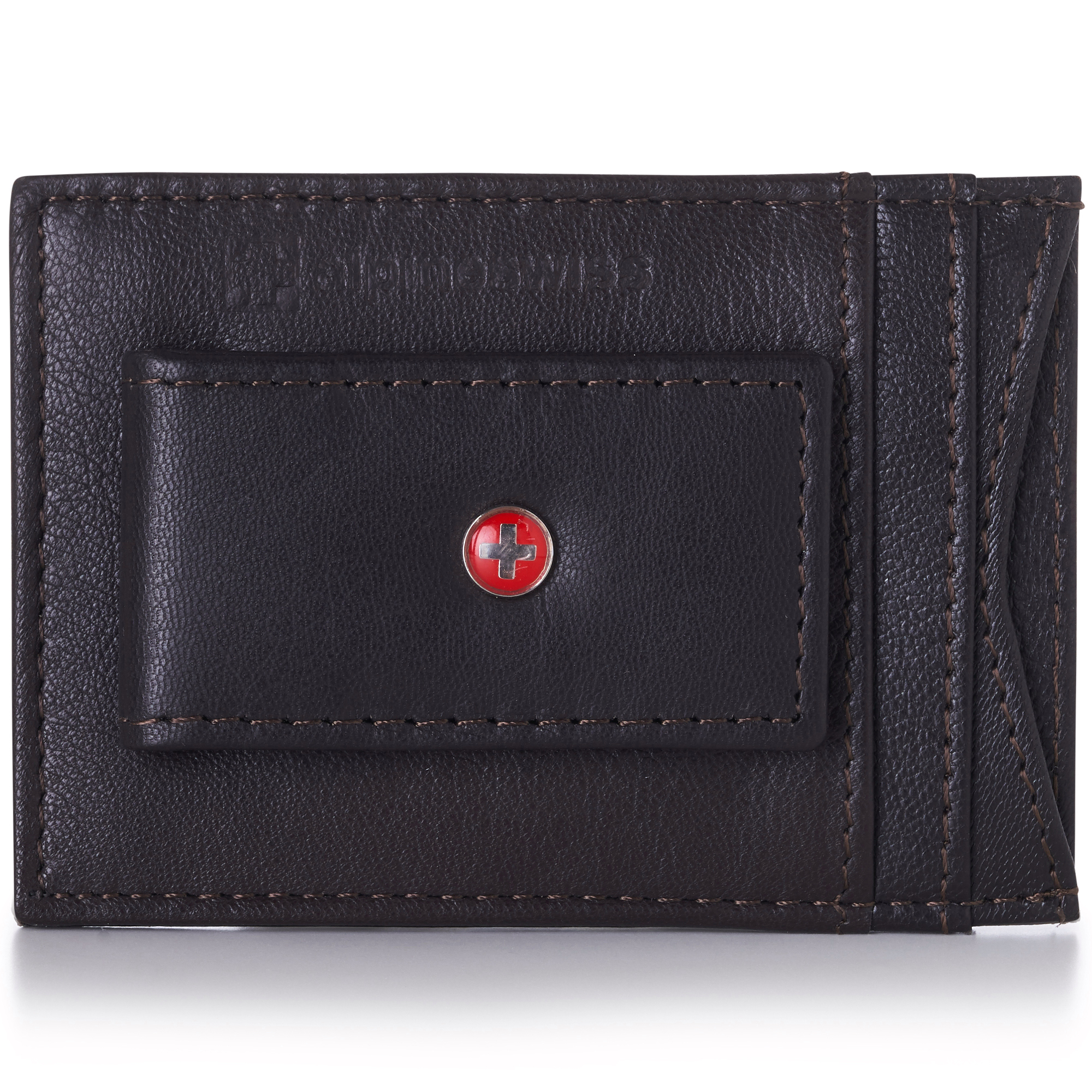 AlpineSwiss-Mens-Leather-Money-Clip-Magnet-Front-Pocket-Wallet-Slim-ID-Card-Case thumbnail 73