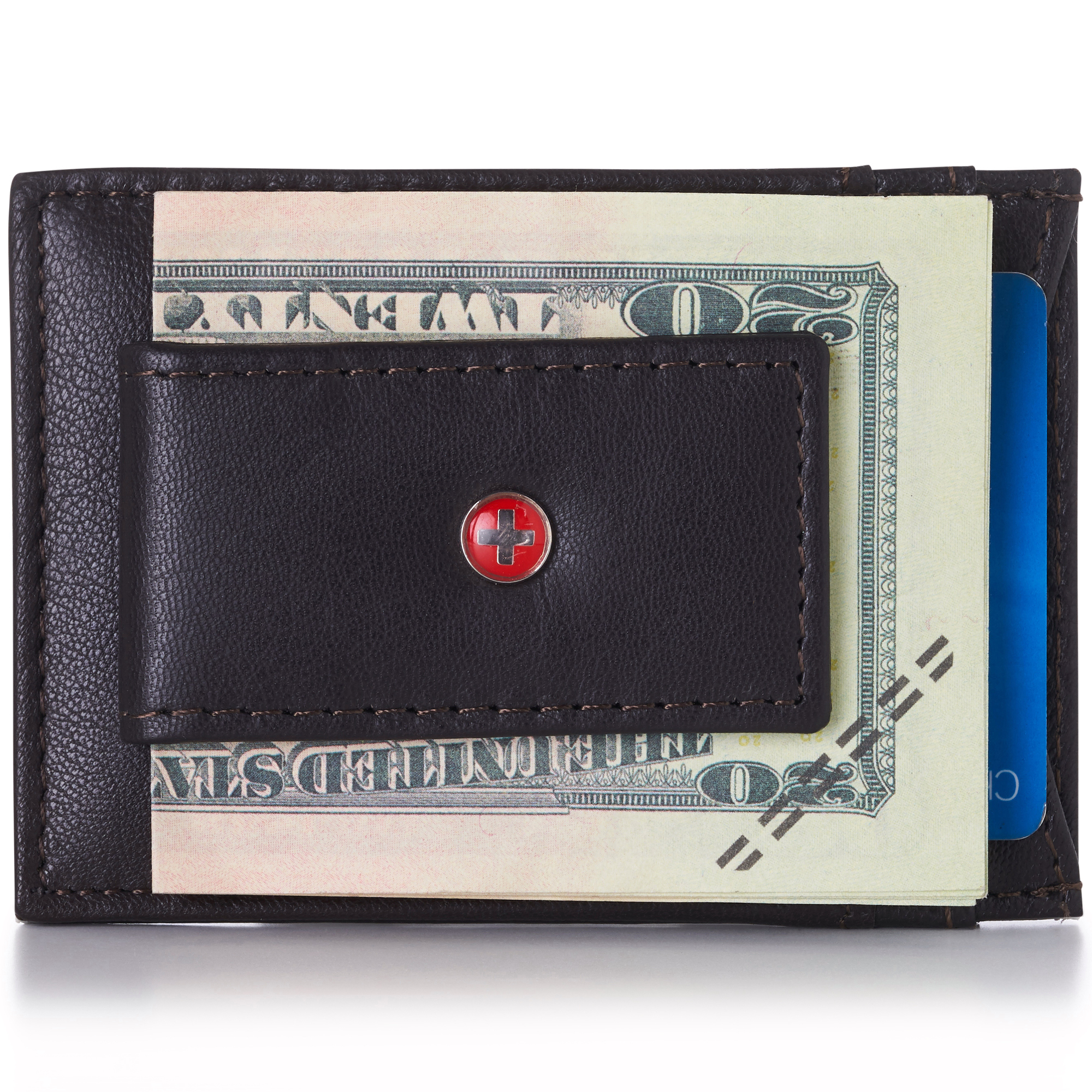 AlpineSwiss-Mens-Leather-Money-Clip-Magnet-Front-Pocket-Wallet-Slim-ID-Card-Case thumbnail 67
