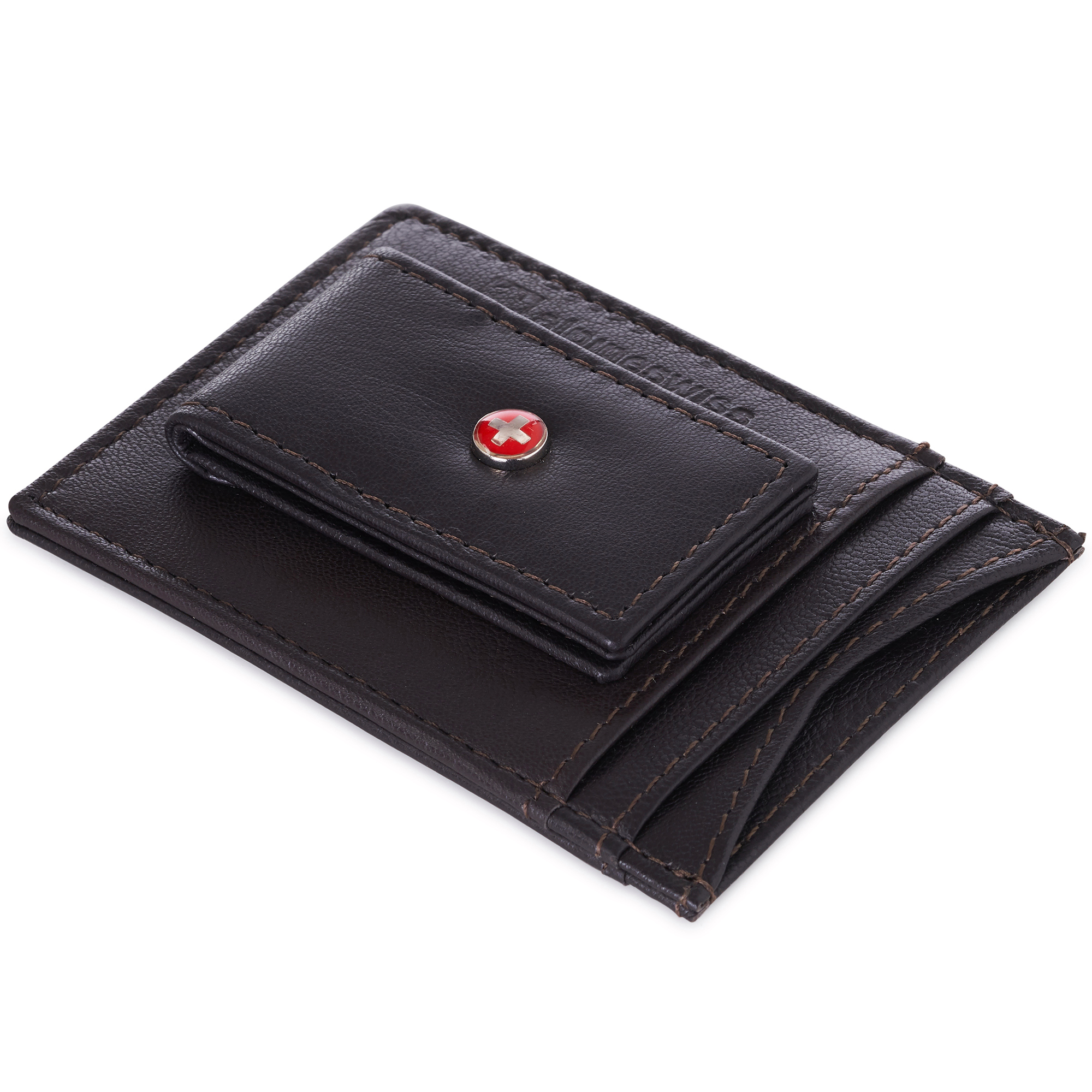 AlpineSwiss-Mens-Leather-Money-Clip-Magnet-Front-Pocket-Wallet-Slim-ID-Card-Case thumbnail 69