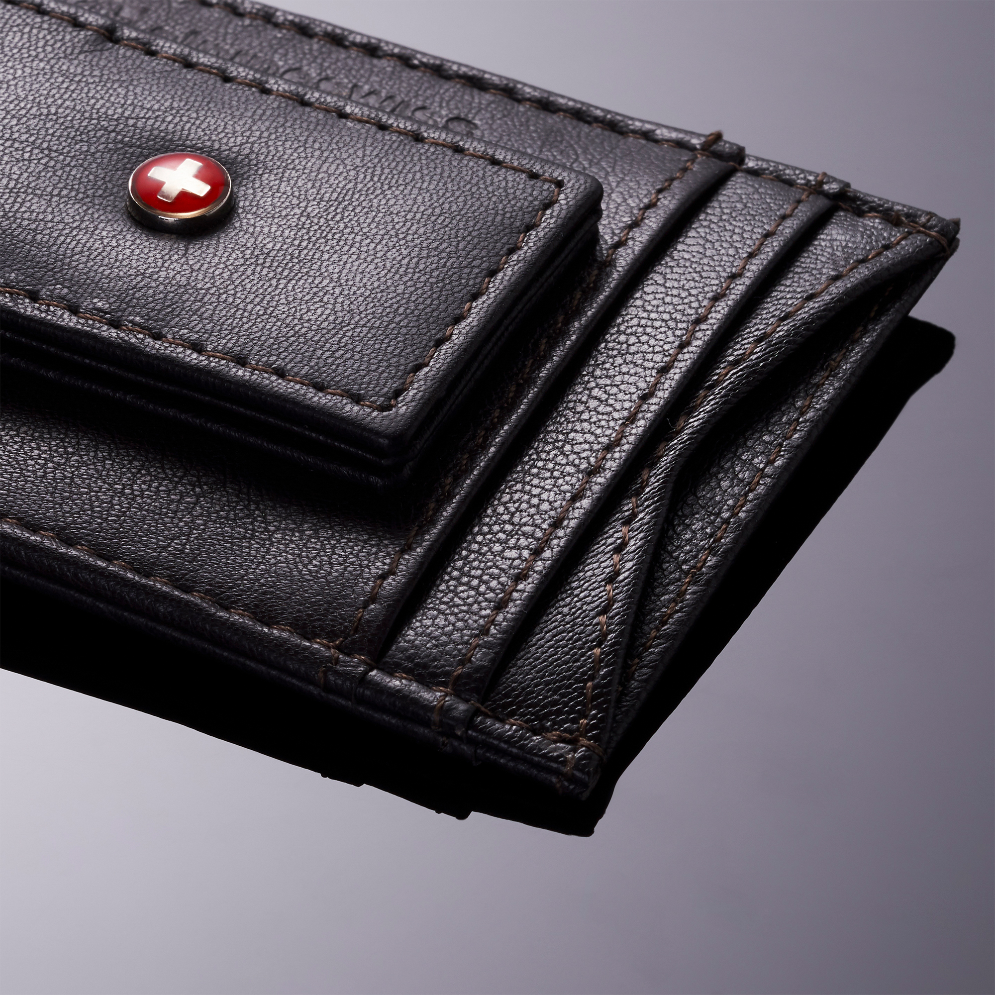 AlpineSwiss-Mens-Leather-Money-Clip-Magnet-Front-Pocket-Wallet-Slim-ID-Card-Case thumbnail 71