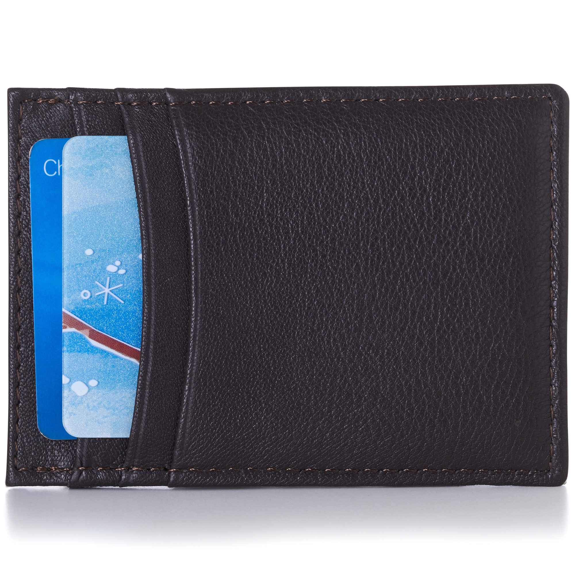 Alpine-Swiss-Mens-Money-Clip-Thin-Front-Pocket-Wallet-Genuine-Leather-Card-Case
