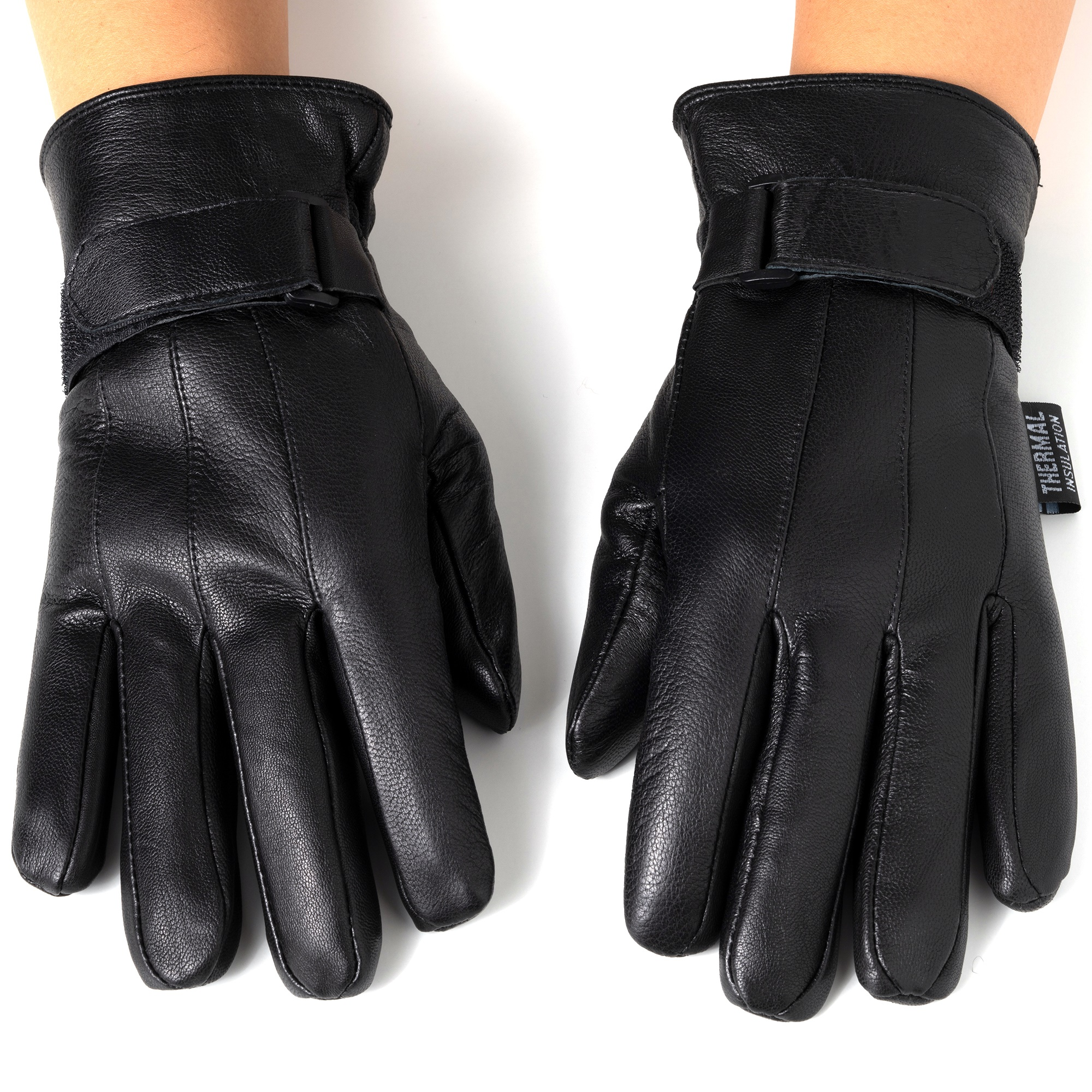 Alpine-Swiss-Mens-Gloves-Dressy-Genuine-Leather-Warm-Thermal-Lined-Wrist-Strap thumbnail 14
