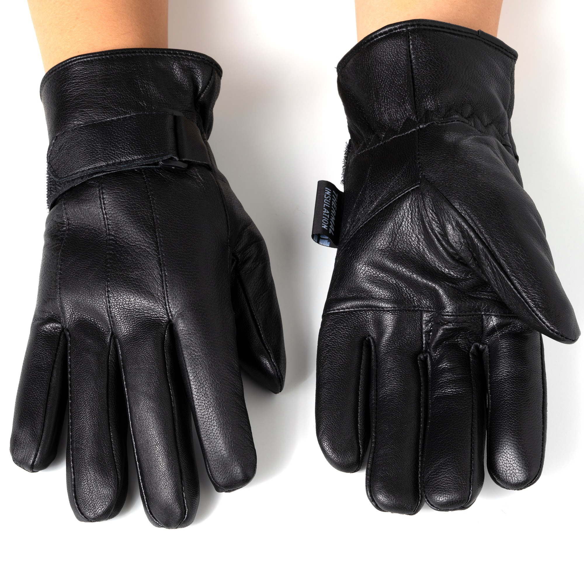 Alpine-Swiss-Mens-Gloves-Dressy-Genuine-Leather-Warm-Thermal-Lined-Wrist-Strap thumbnail 16