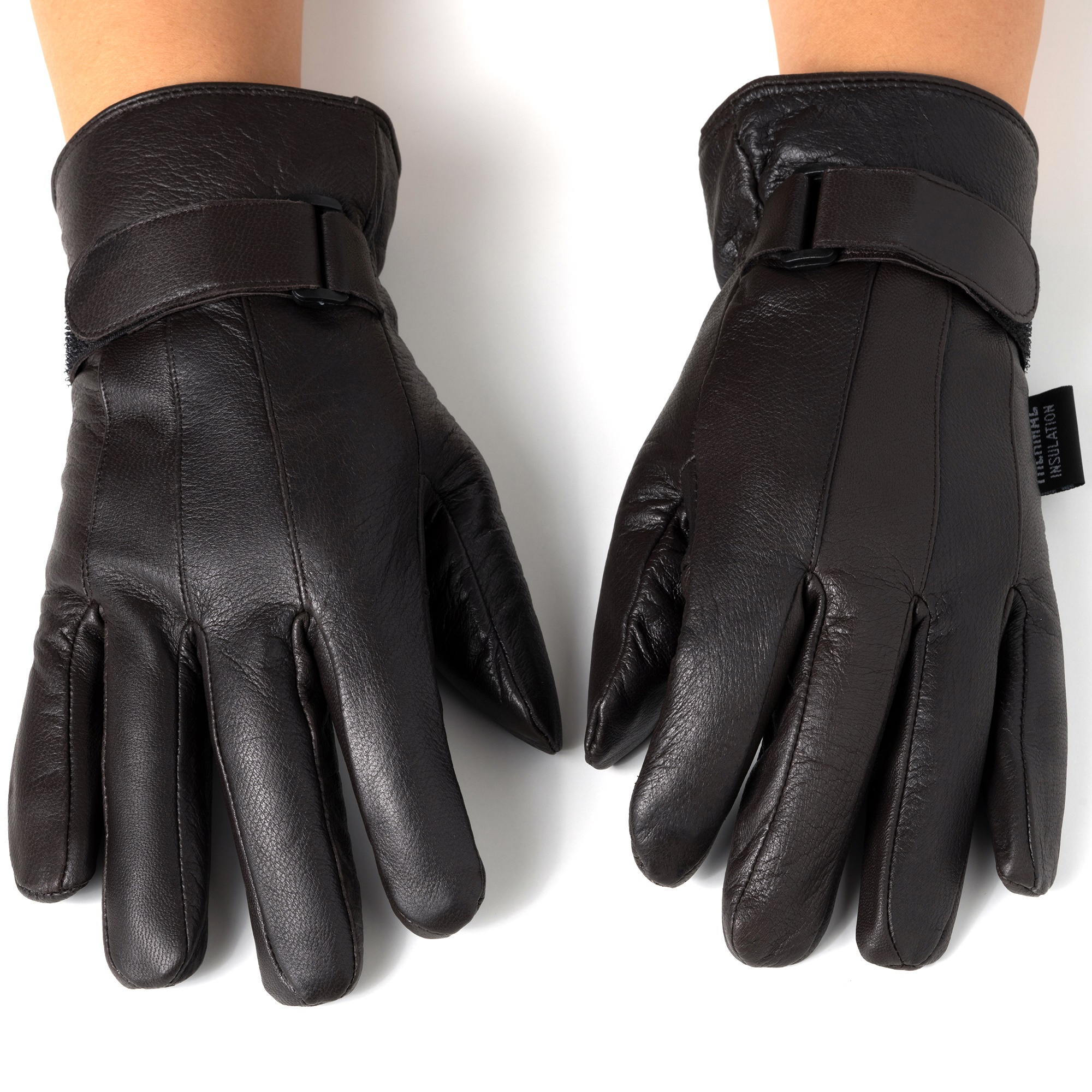 Alpine-Swiss-Mens-Gloves-Dressy-Genuine-Leather-Warm-Thermal-Lined-Wrist-Strap thumbnail 21