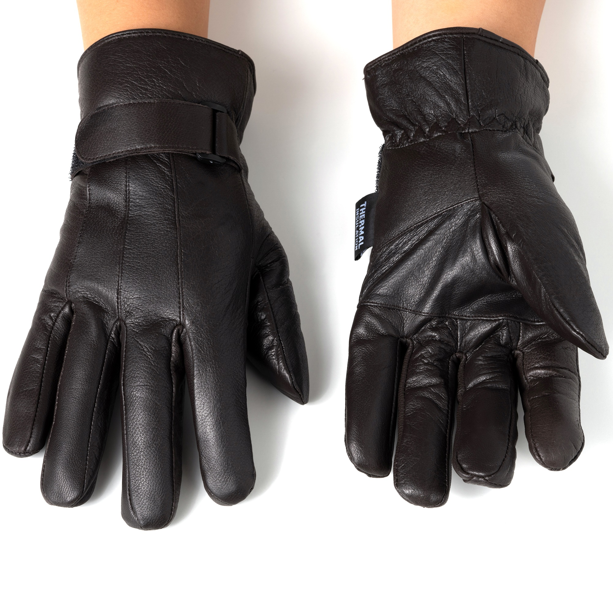 Alpine-Swiss-Mens-Gloves-Dressy-Genuine-Leather-Warm-Thermal-Lined-Wrist-Strap thumbnail 23