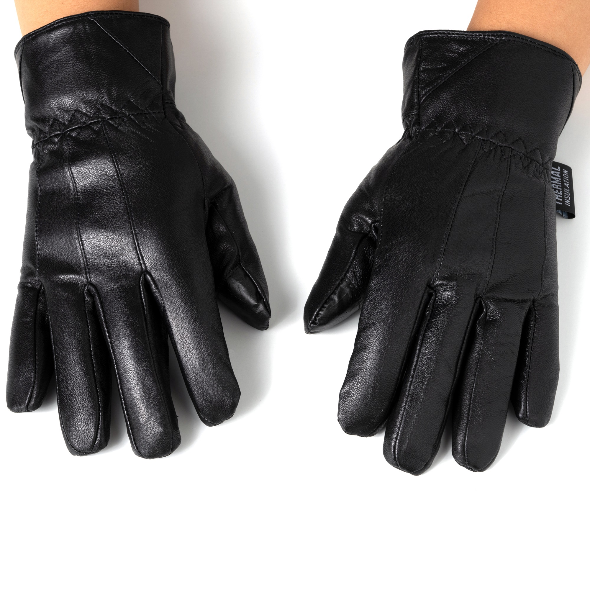 Alpine-Swiss-Mens-Touch-Screen-Gloves-Leather-Thermal-Lined-Phone-Texting-Gloves thumbnail 13