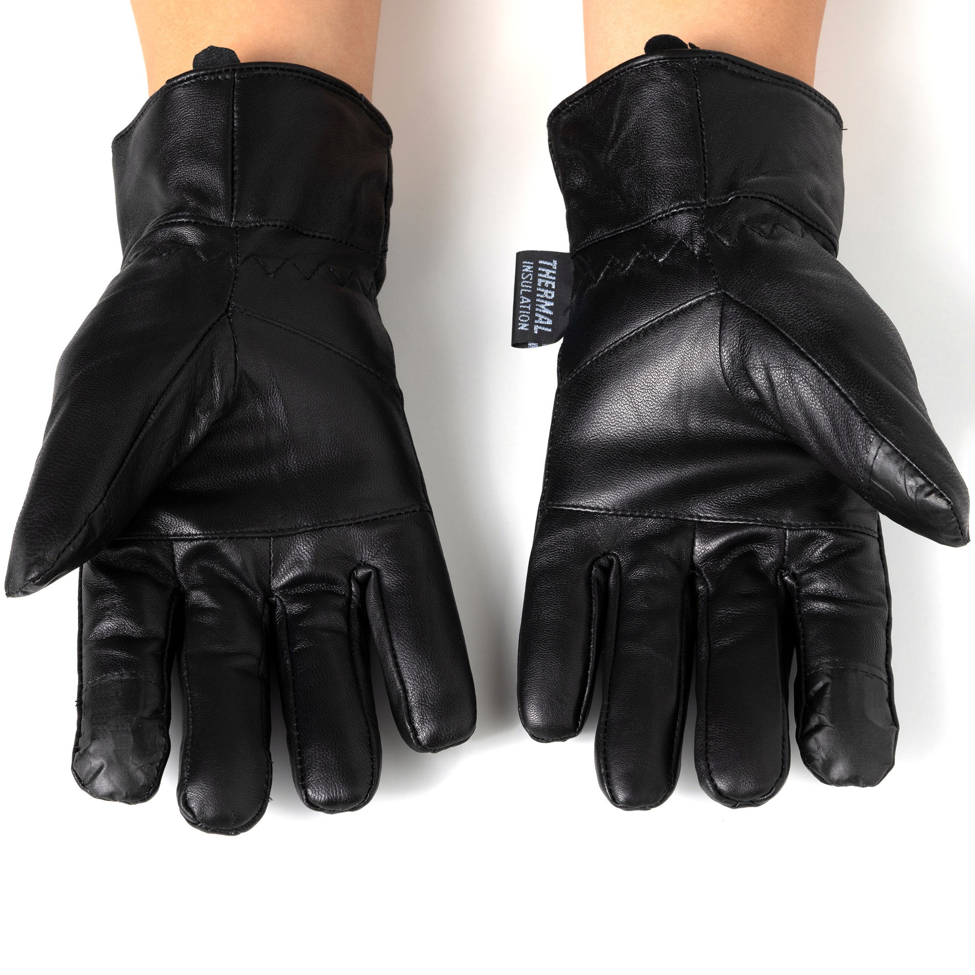 Alpine-Swiss-Mens-Touch-Screen-Gloves-Leather-Thermal-Lined-Phone-Texting-Gloves