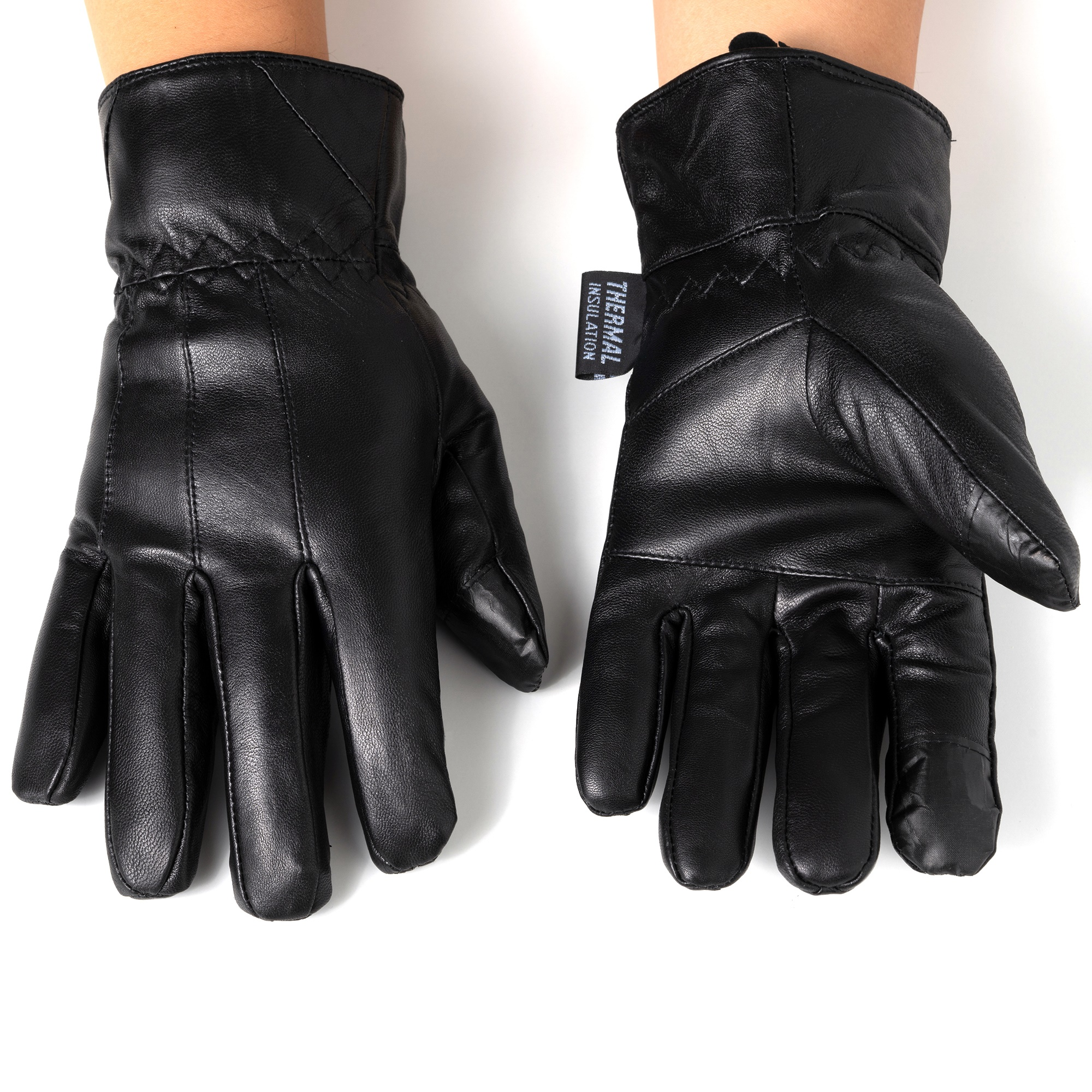 Alpine-Swiss-Mens-Touch-Screen-Gloves-Leather-Thermal-Lined-Phone-Texting-Gloves thumbnail 15