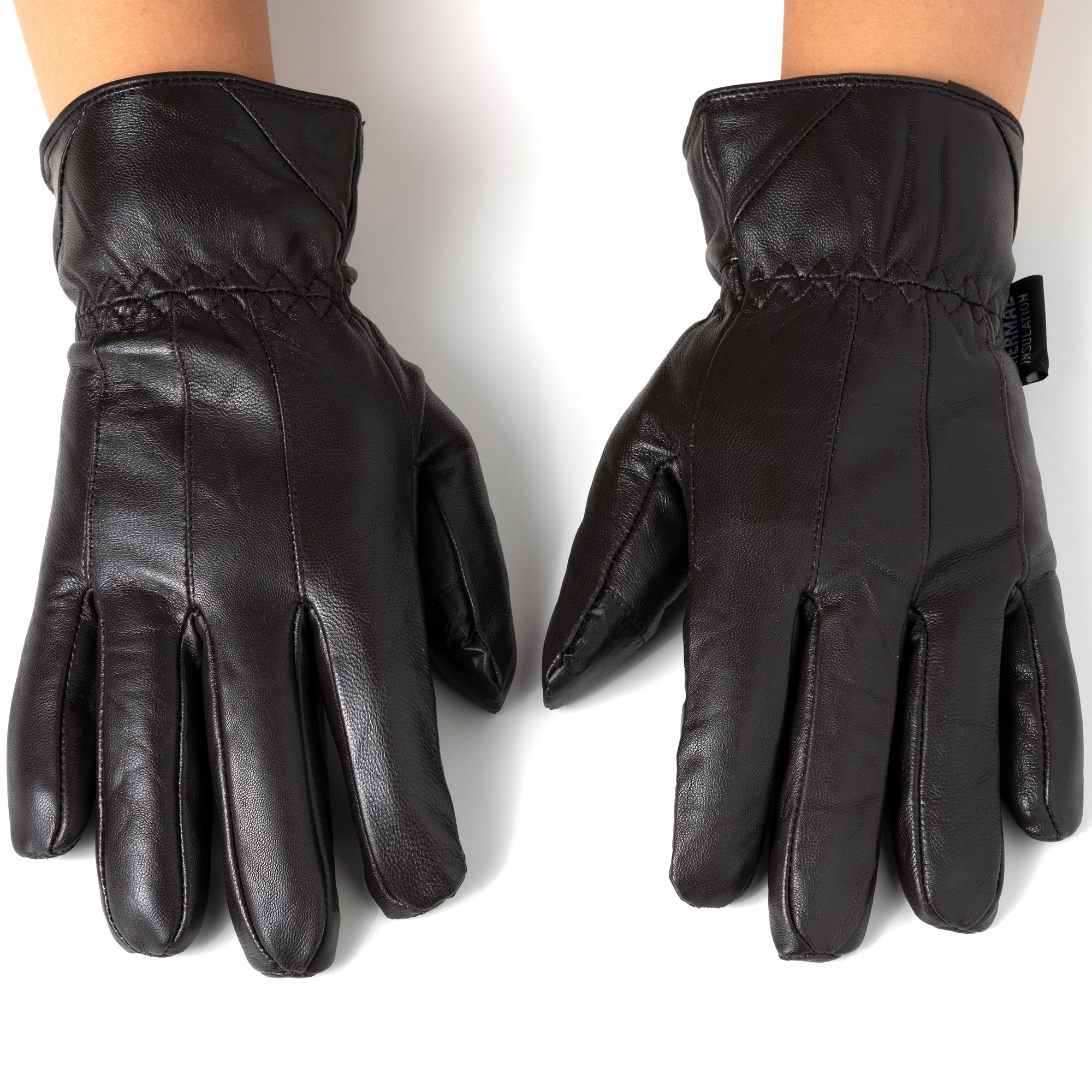 Alpine-Swiss-Mens-Touch-Screen-Gloves-Leather-Thermal-Lined-Phone-Texting-Gloves thumbnail 21