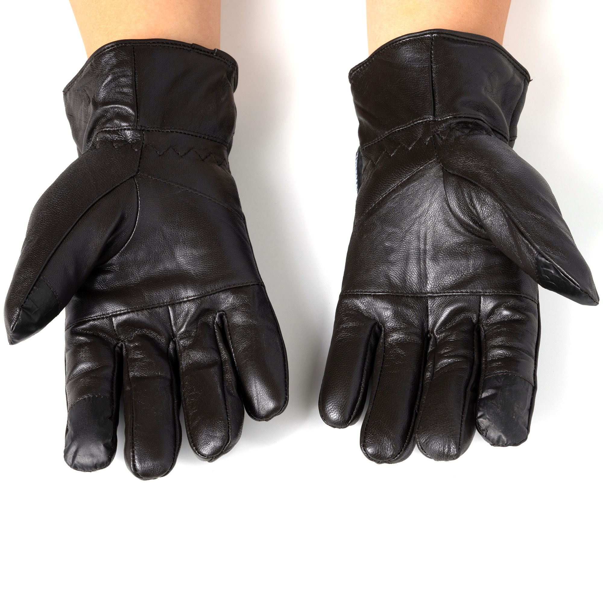 Alpine-Swiss-Mens-Touch-Screen-Gloves-Leather-Thermal-Lined-Phone-Texting-Gloves thumbnail 22